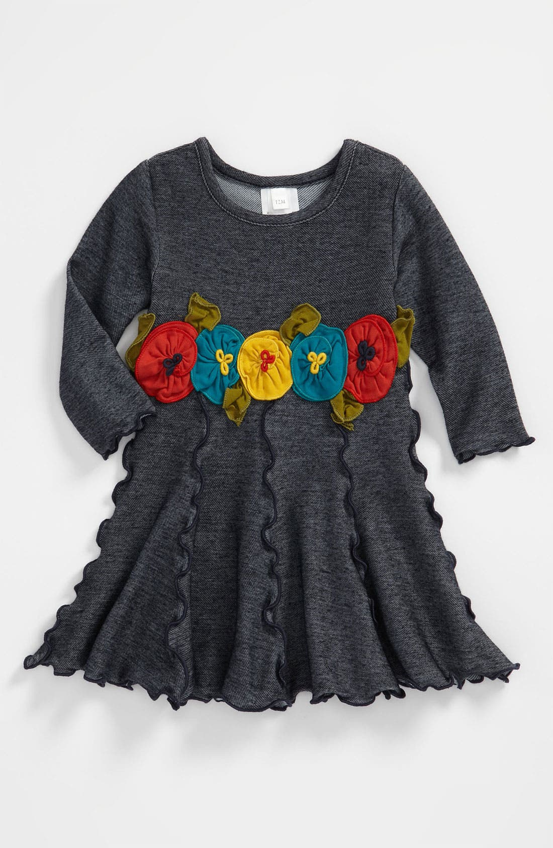 Alternate Image 1 Selected - Love U Lots Ruffle Trimmed Dress (Toddler)