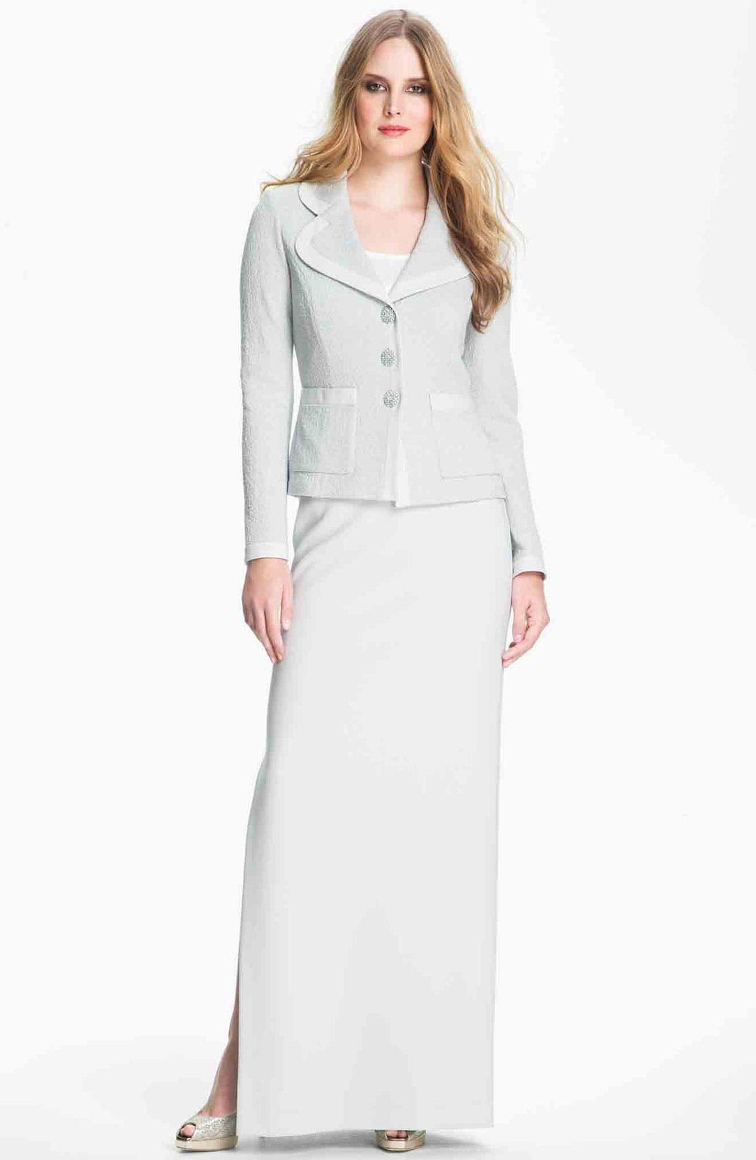 Alternate Image 1 Selected - St. John Collection Crepe Marocain Skirt