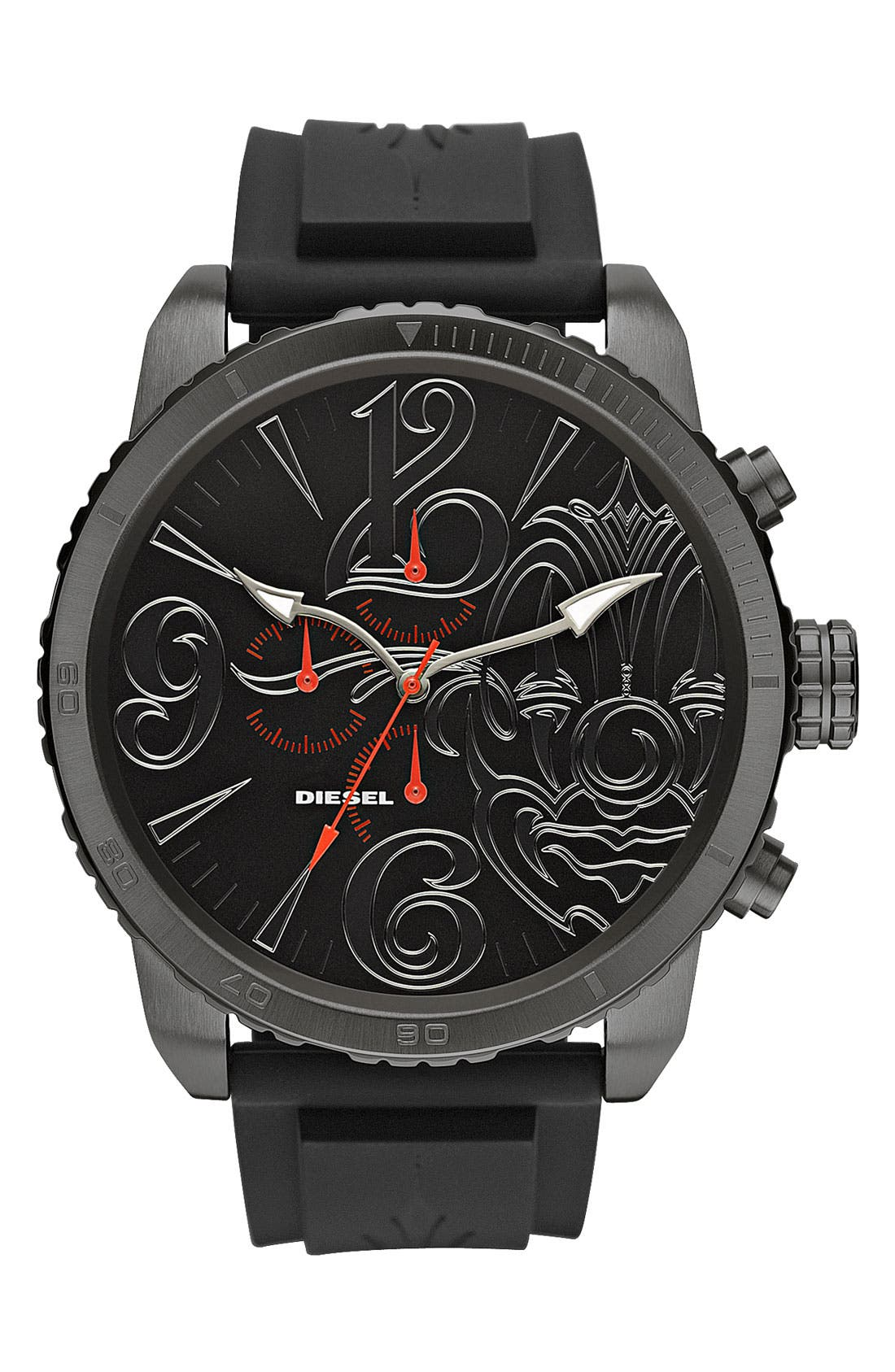 Alternate Image 1 Selected - DIESEL® 'Mister Cartoon' Chronograph Analog Watch
