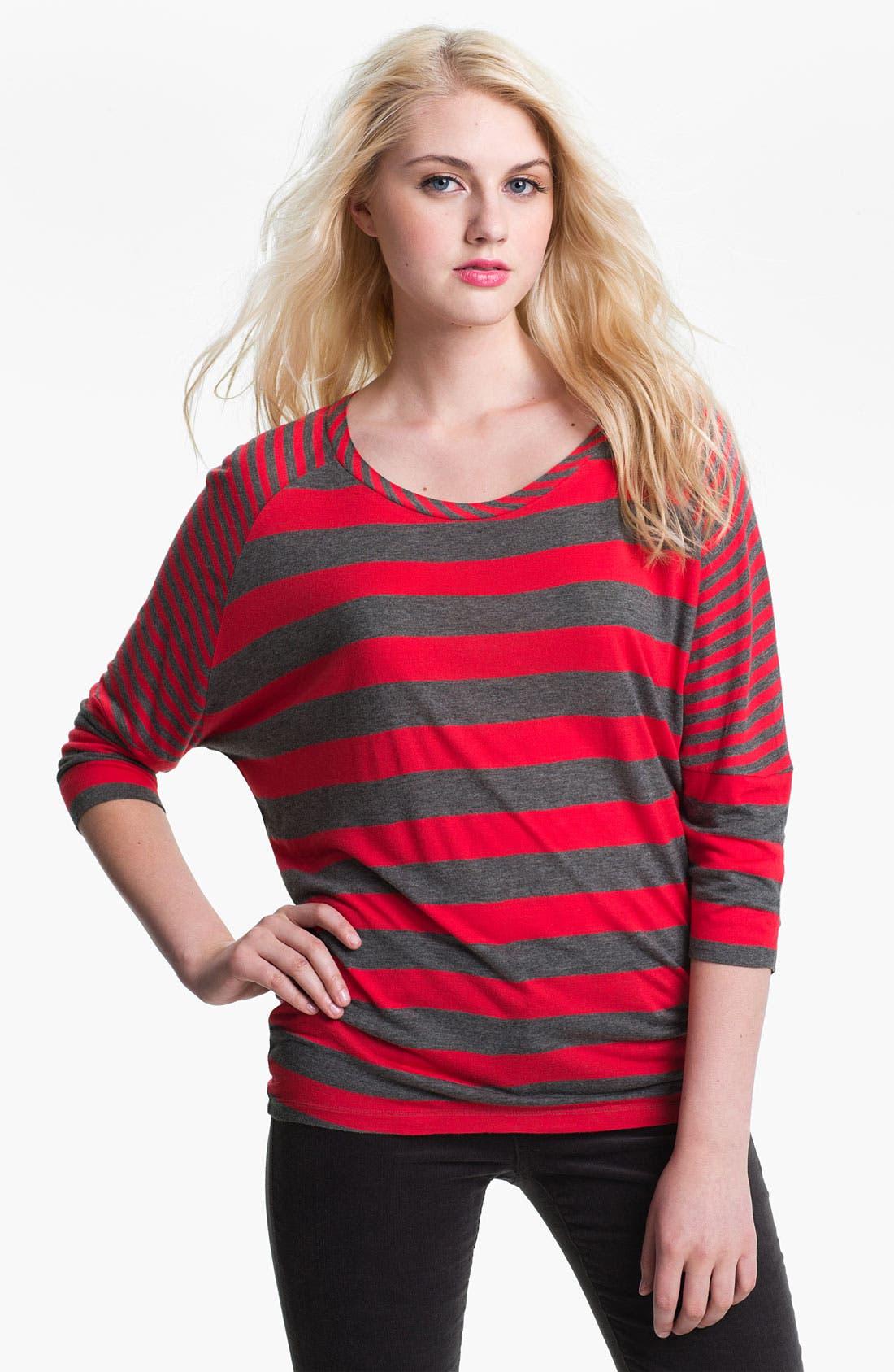 Main Image - Caslon® Mix Stripe Wedge Tee