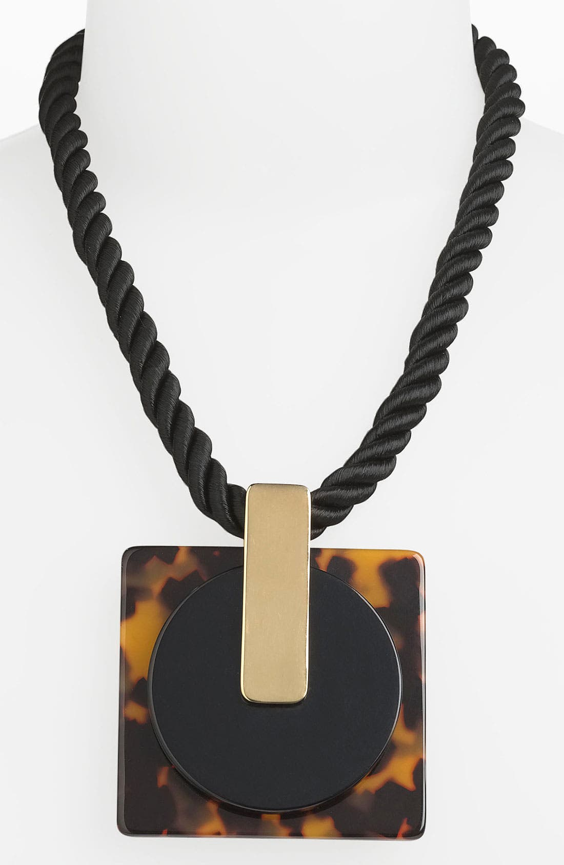 Main Image - Tory Burch 'Brody High' Oversized Pendant Necklace