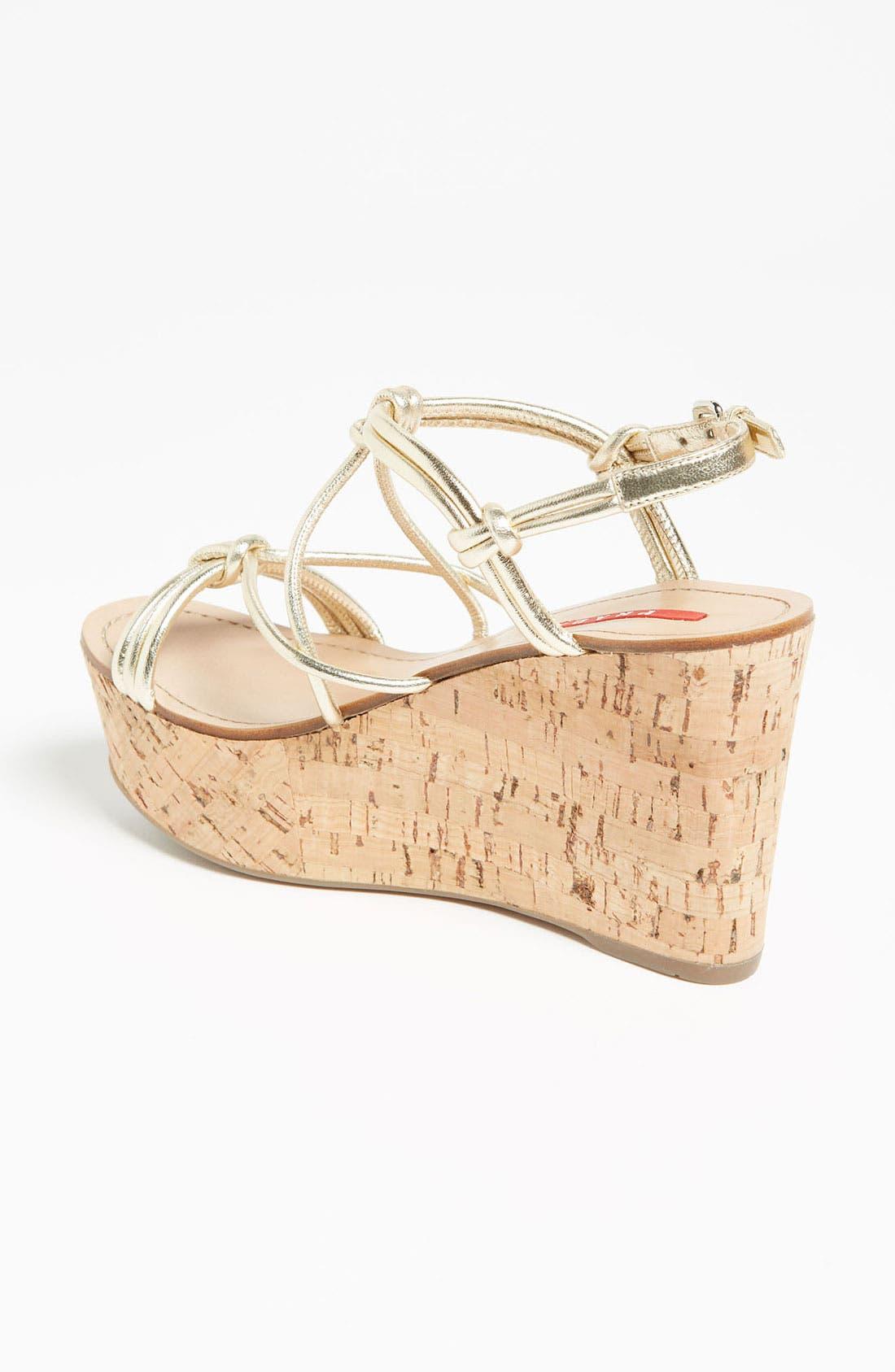 Alternate Image 2  - Prada Cork Wedge Sandal
