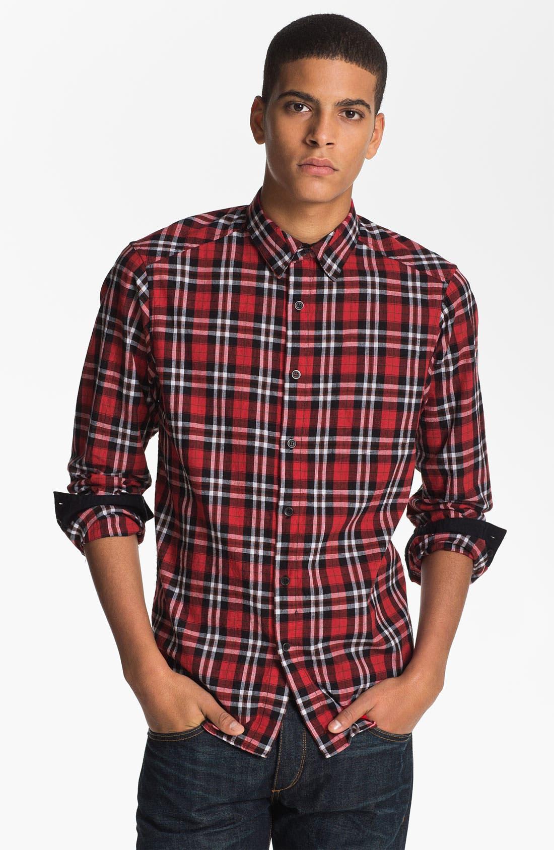 Main Image - Rogan 'Isidoud' Reversible Check Sport Shirt