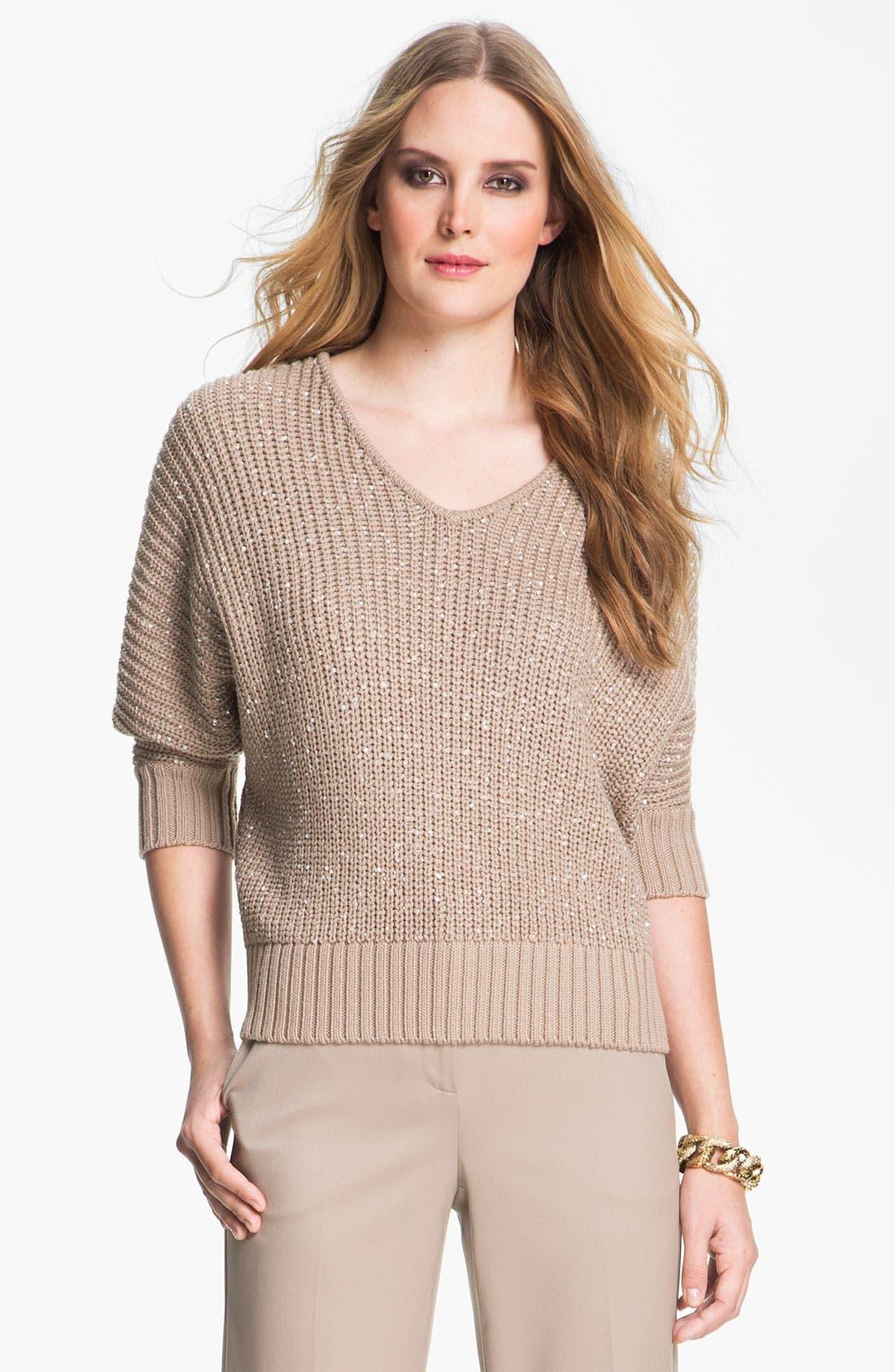 Main Image - St. John Yellow Label Sequin Knit Sweater
