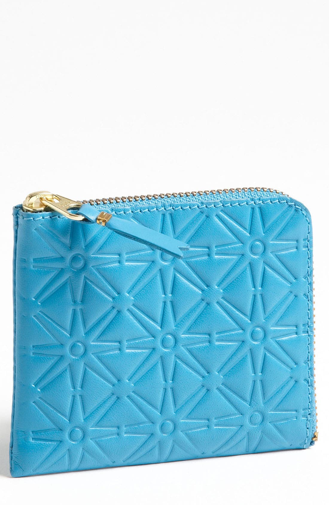 Main Image - Comme des Garçons Small Embossed Half Zip French Wallet