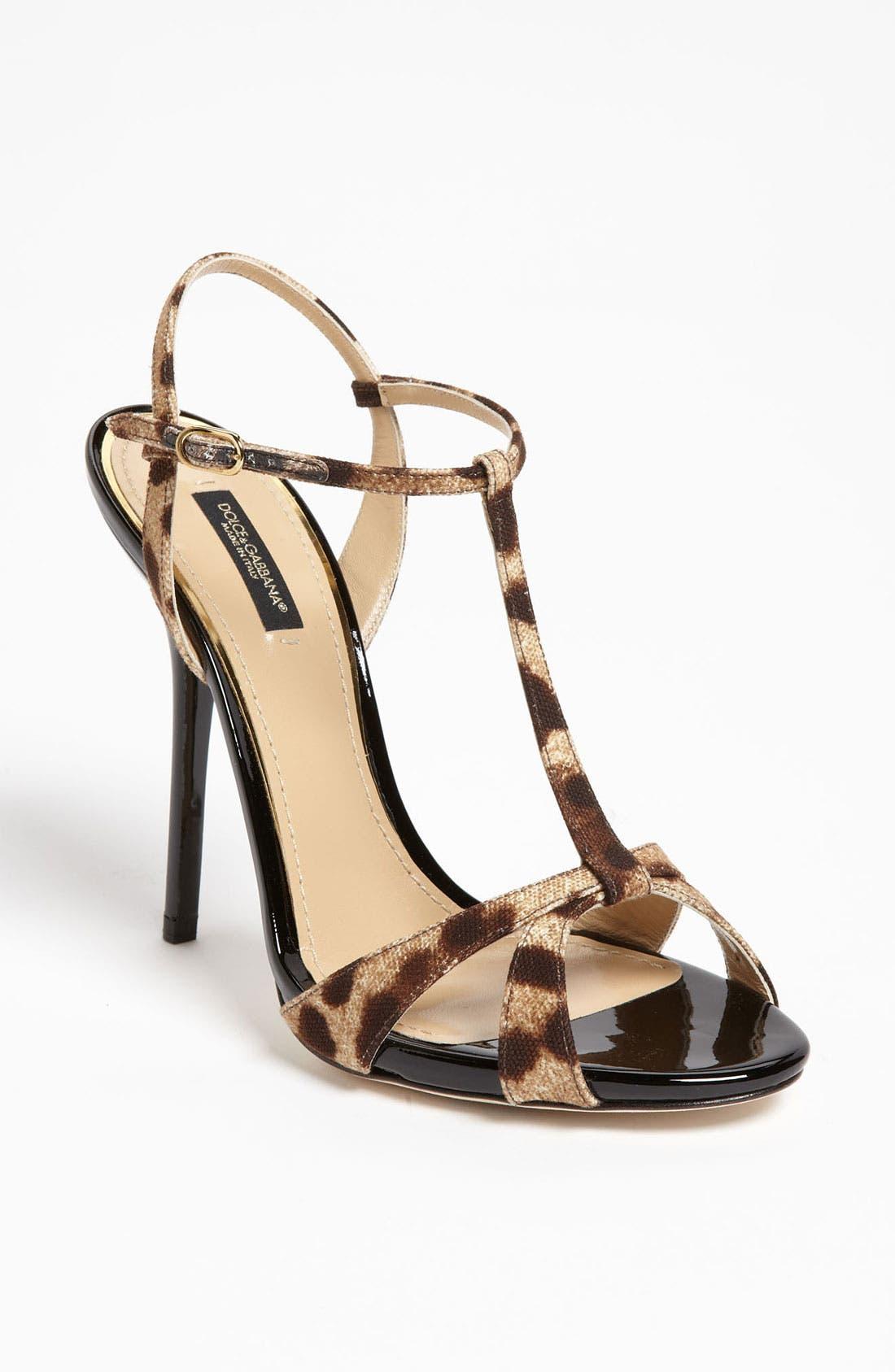 Main Image - Dolce&Gabbana Leopard Print Sandal