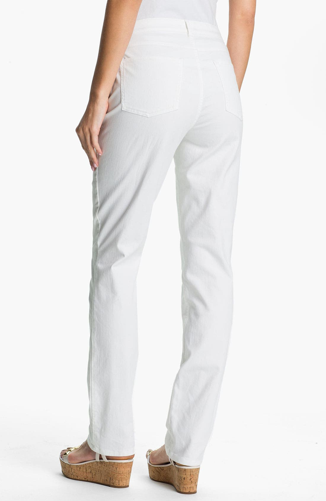 Alternate Image 4  - Eileen Fisher White Denim Jeans