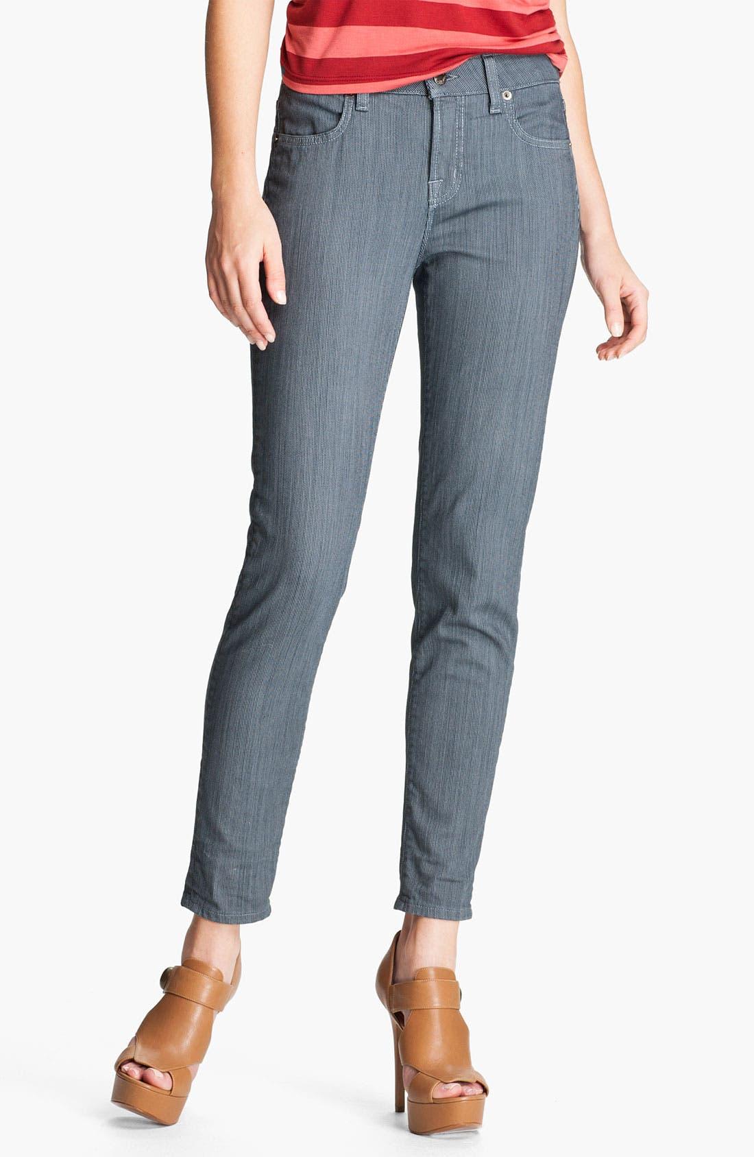 Main Image - Blue Essence Pinstripe Skinny Jeans