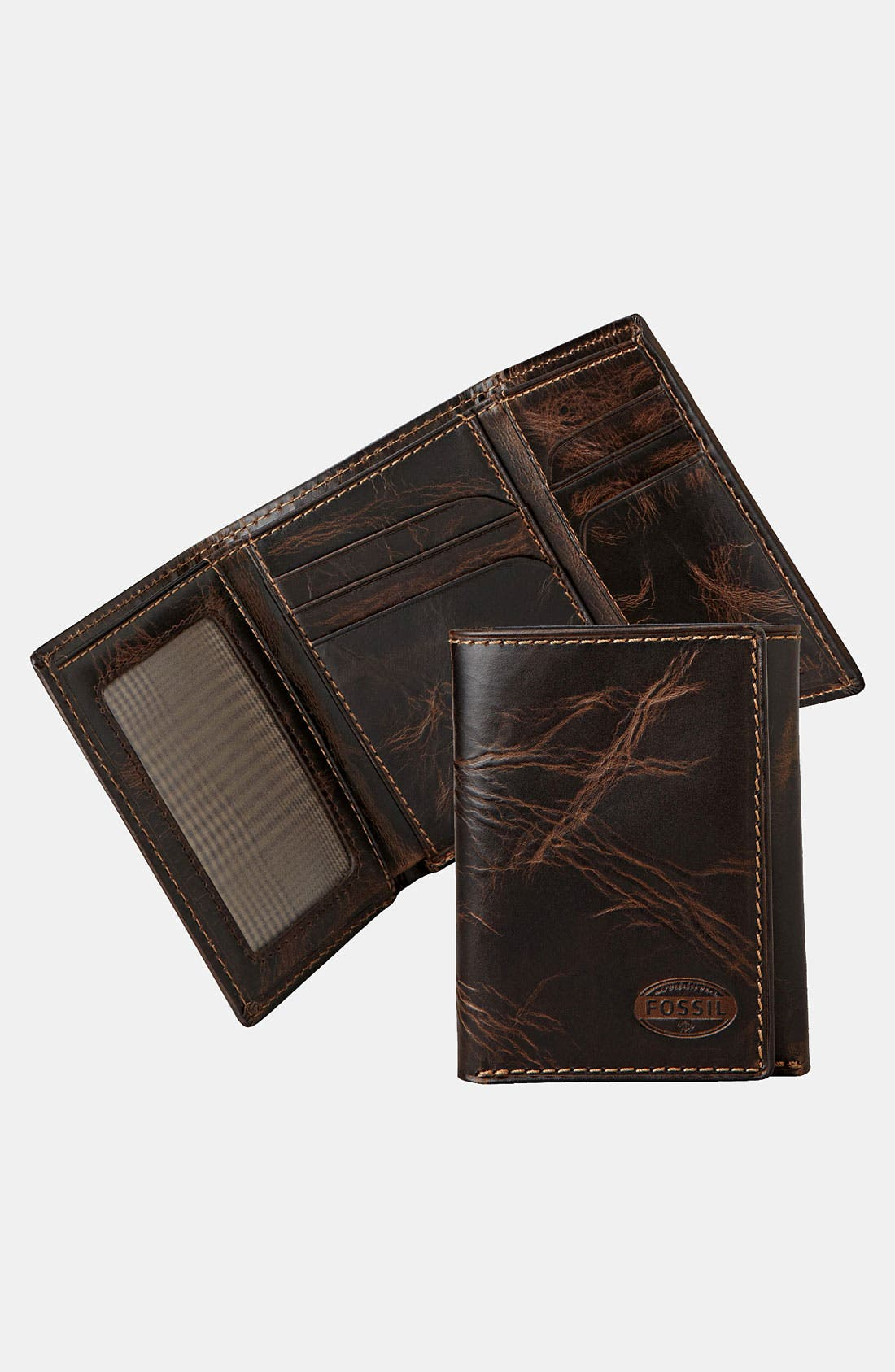 Alternate Image 1 Selected - Fossil 'Norton' Trifold Wallet