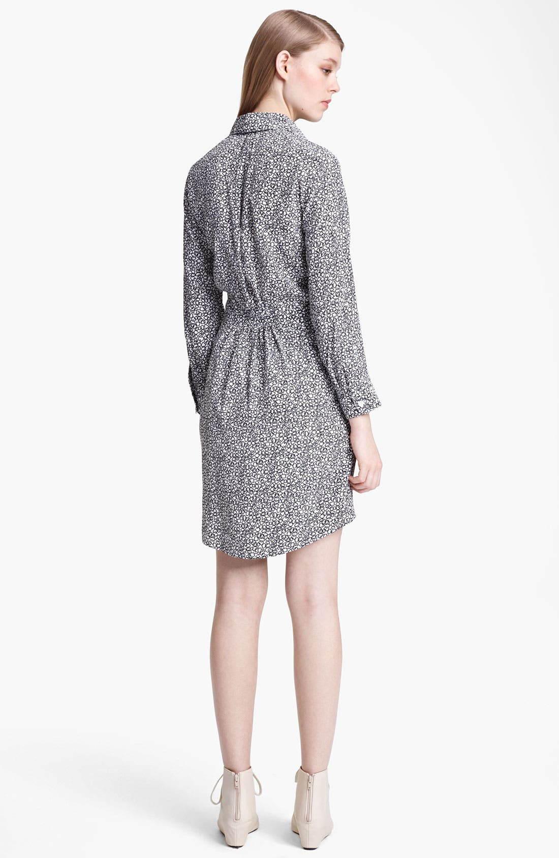 Alternate Image 2  - Band of Outsiders Print Crêpe de Chine Shirtdress