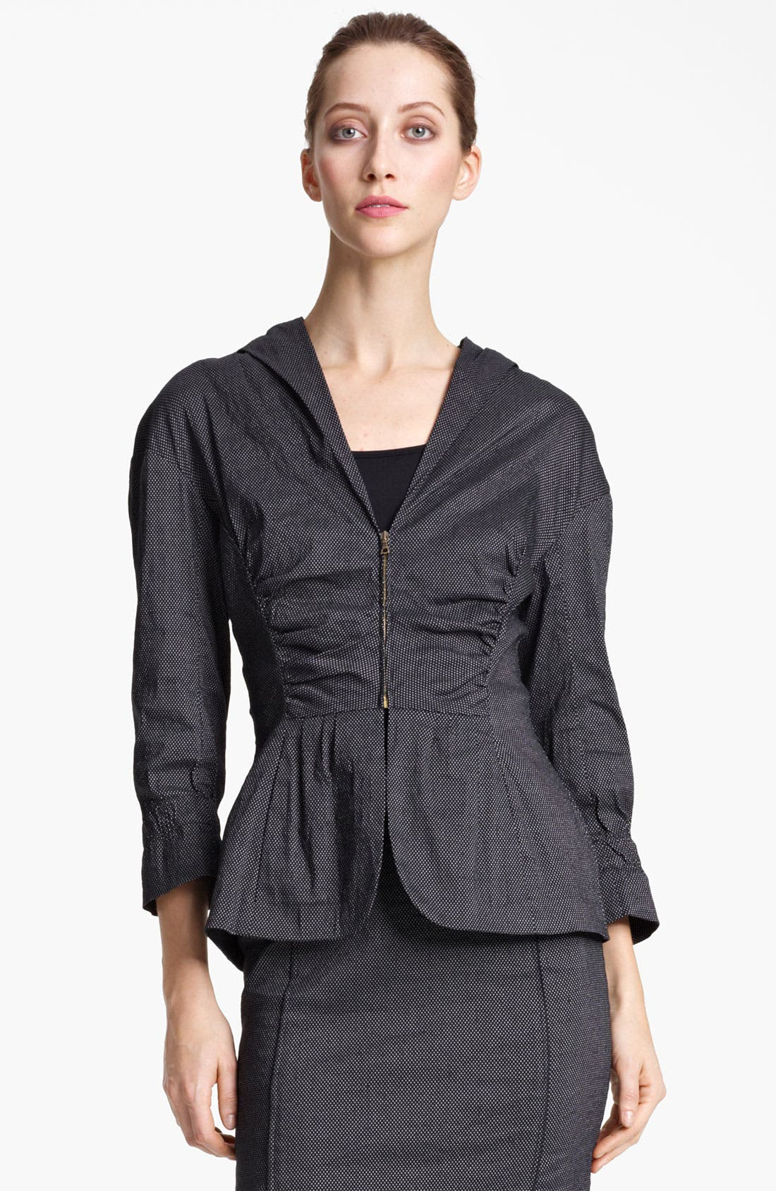 Alternate Image 1 Selected - Nina Ricci Zip Front Pin Dot Jacket