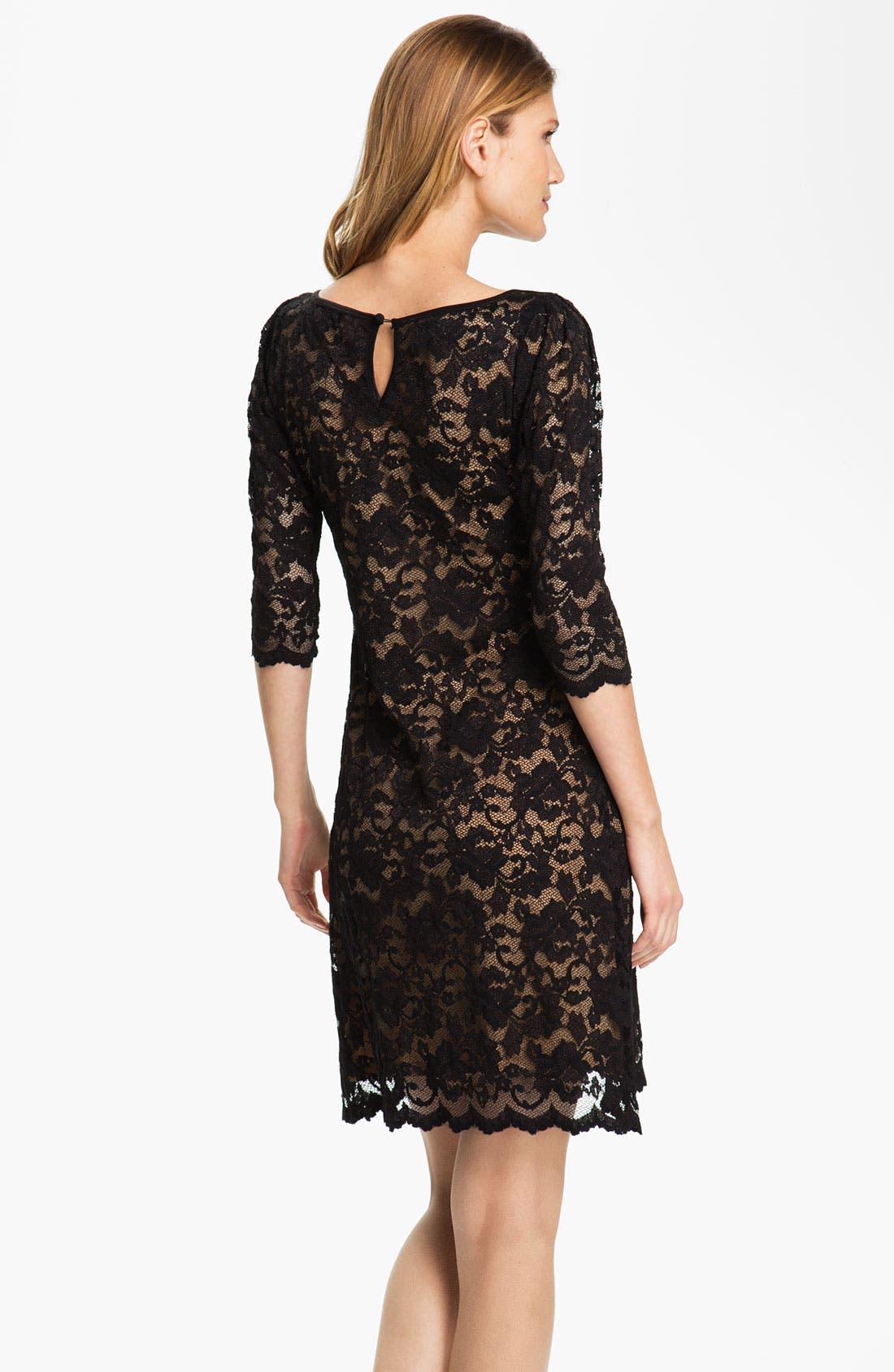 Alternate Image 2  - Karen Kane Scallop Hem Lace Dress