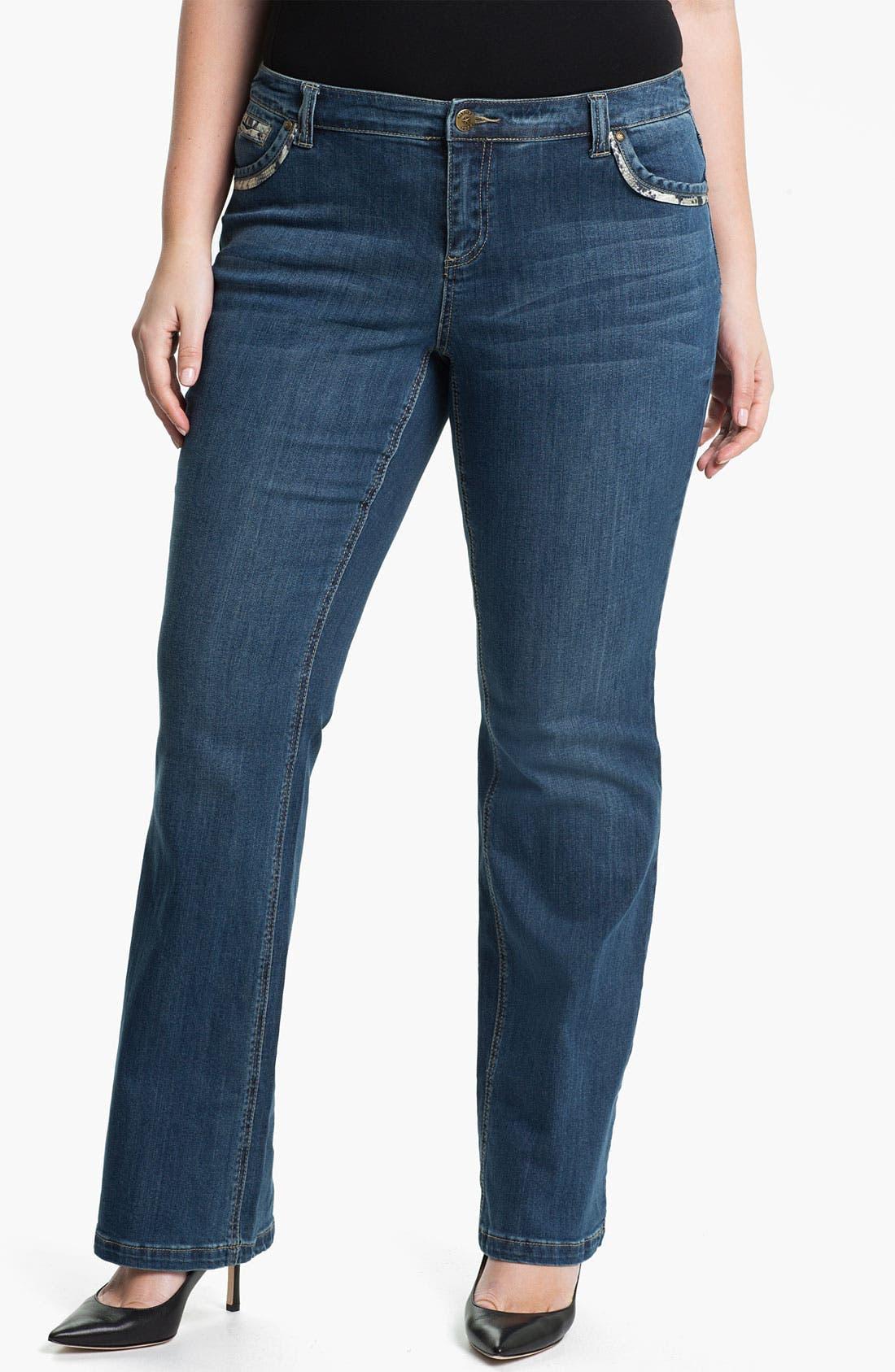 Main Image - Mynt 1792 'Broadway' Bootcut Jeans (Plus)