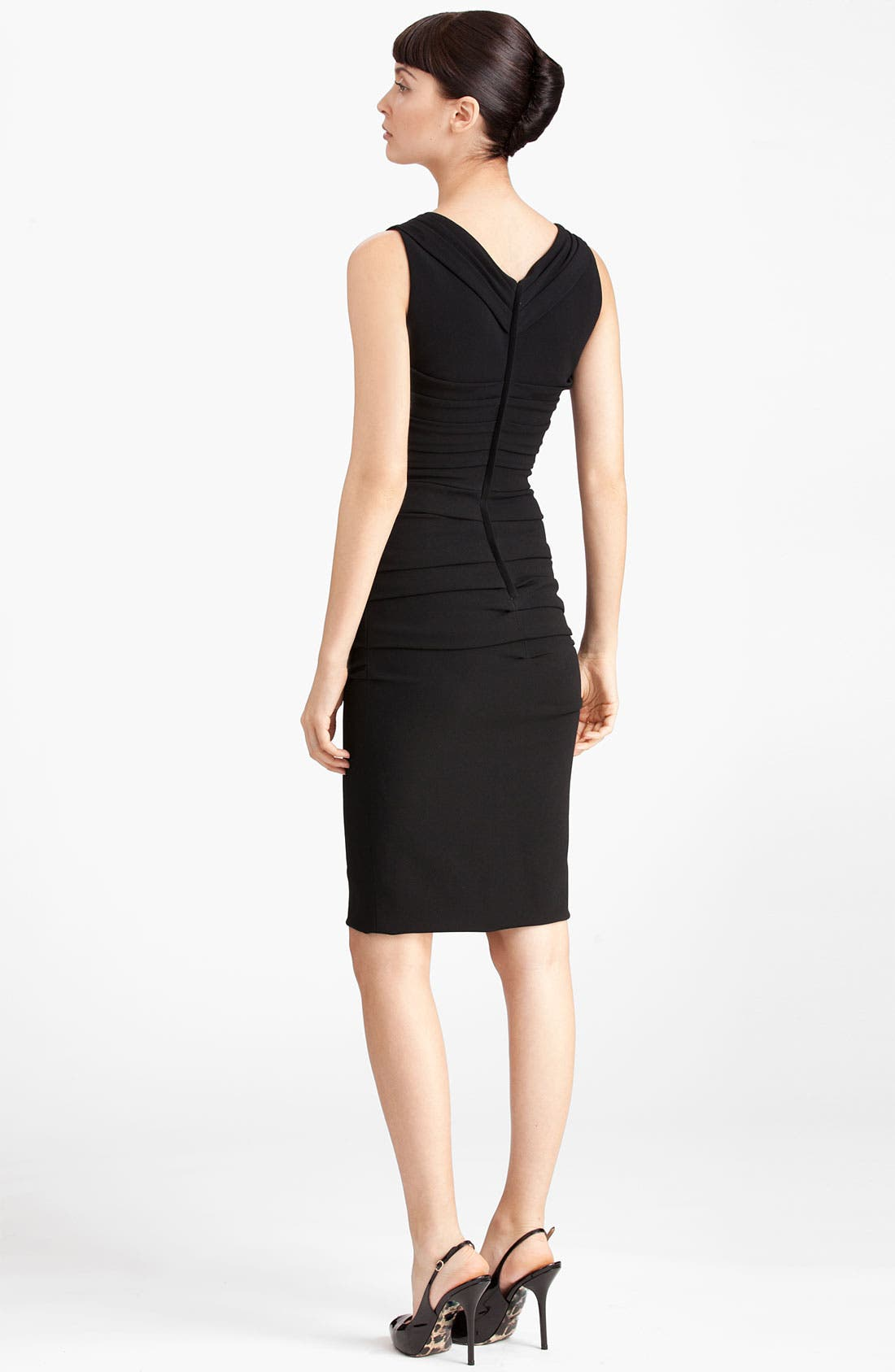 Alternate Image 2  - Dolce&Gabbana Ruched Sleeveless Stretch Cady Dress