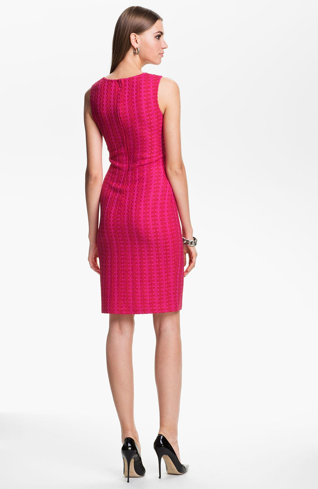 Alternate Image 2  - St. John Collection 'Mid-Century Tweed' Sheath Dress