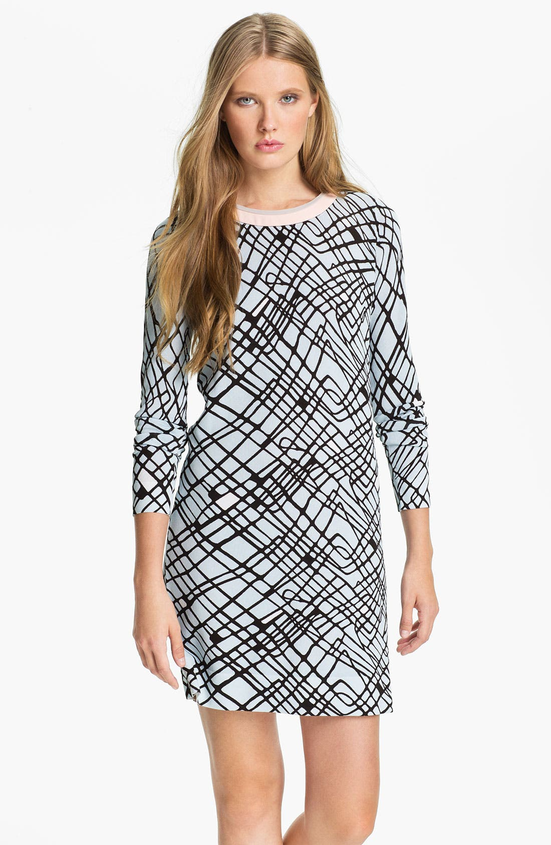 Alternate Image 1 Selected - Diane von Furstenberg 'Janetta' Print Shift Dress