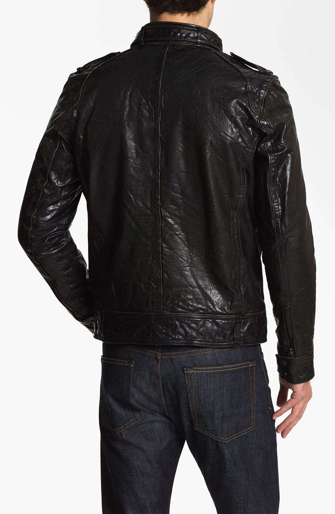Alternate Image 2  - Vince Camuto Leather Utility Jacket