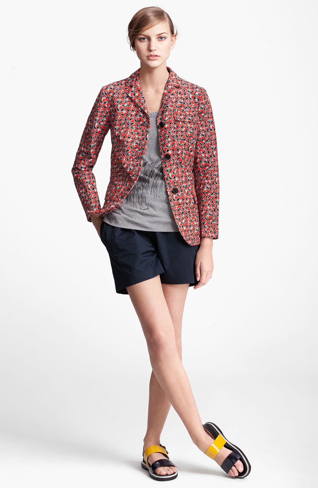 Alternate Image 4  - Marni Edition Leaf Print Linen Blend Jacket