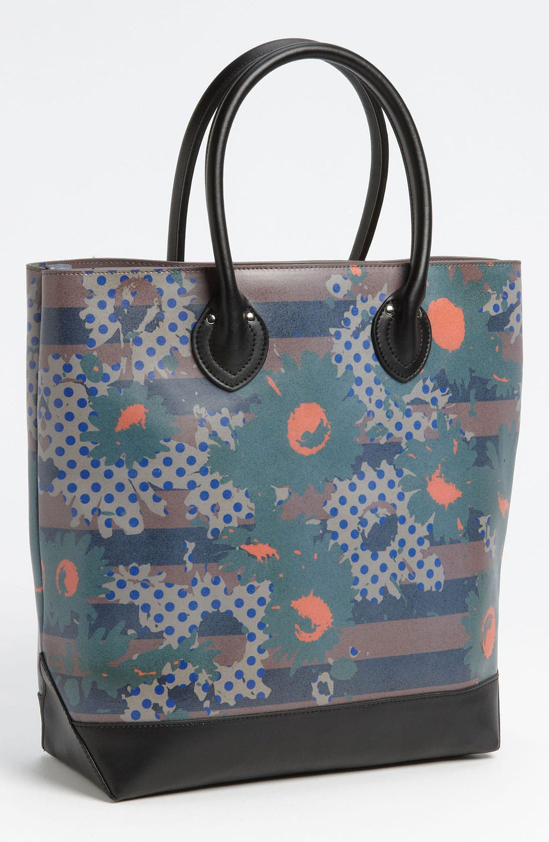 Main Image - Yarnz 'Flower Dots' Leather Tote