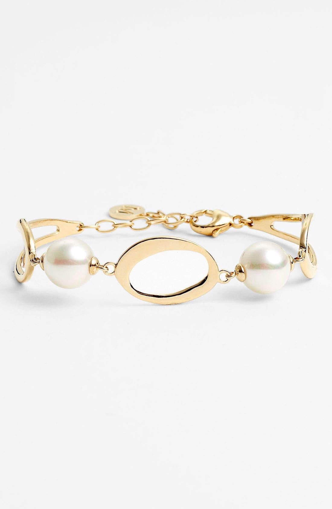 Alternate Image 1 Selected - Majorica 10mm Pearl Line Bracelet