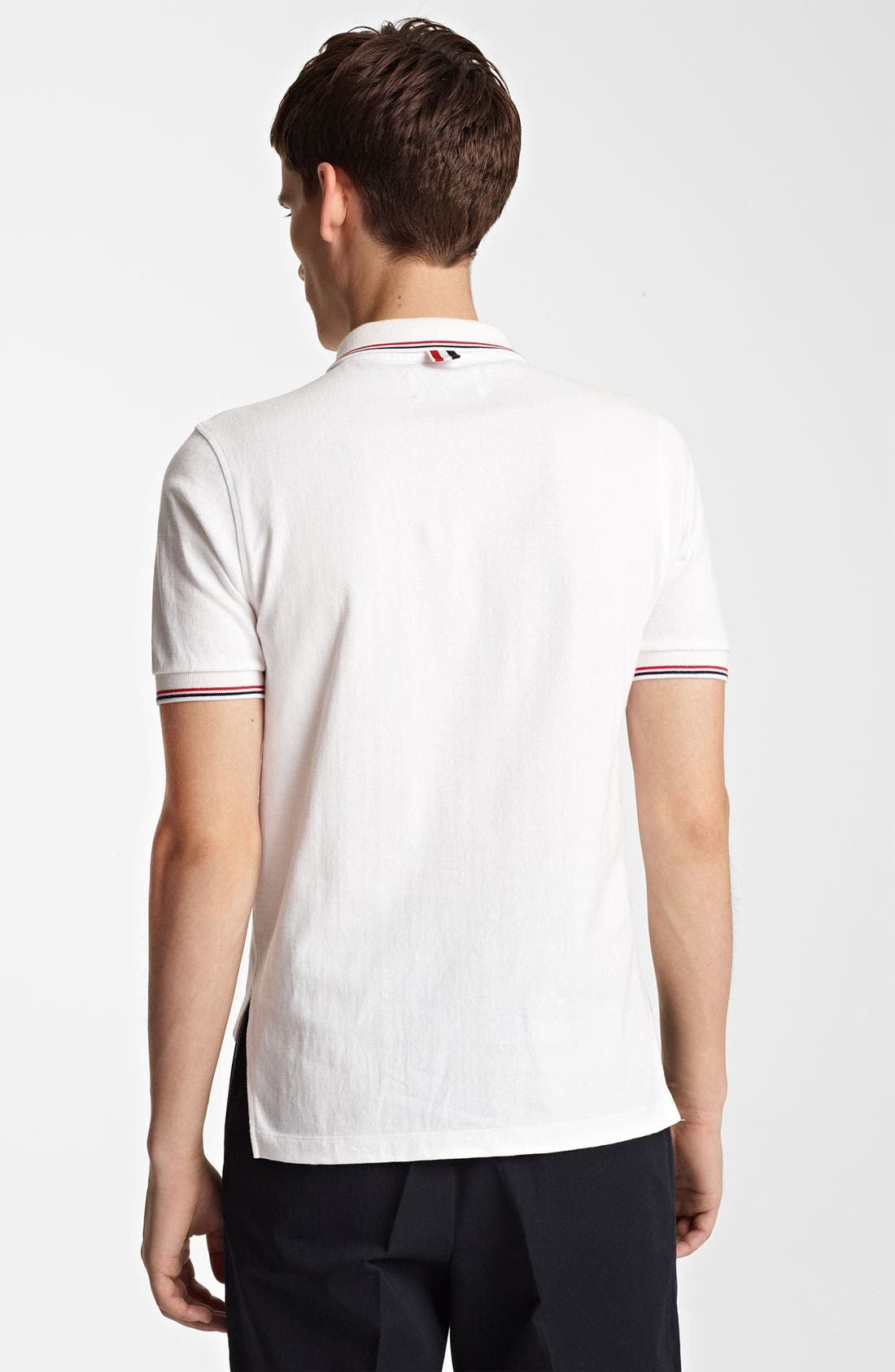 Alternate Image 2  - Thom Browne Tipped Cotton Jersey Polo