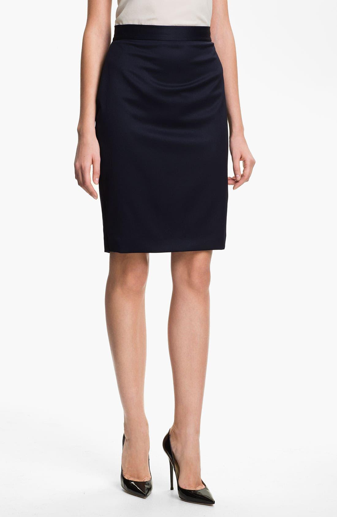 Alternate Image 1 Selected - St. John Collection Venetian Wool Pencil Skirt