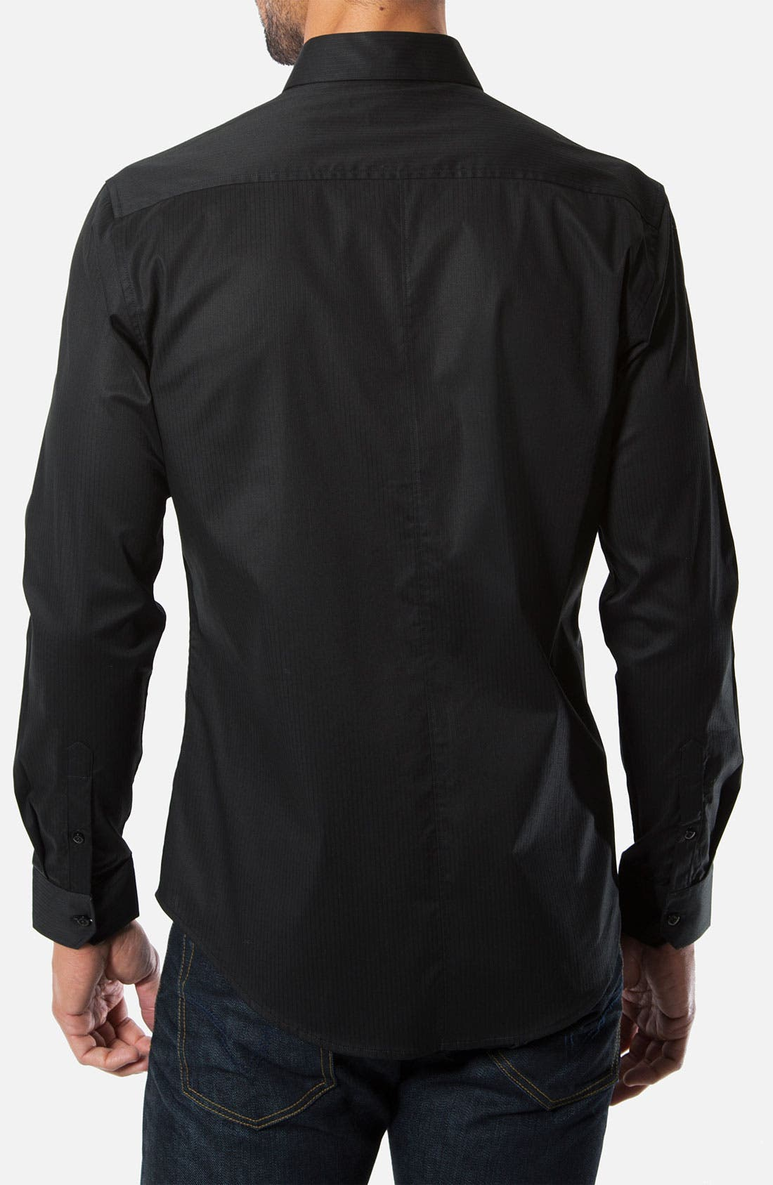Alternate Image 2  - 7 Diamonds 'Diamond Eyes' Trim Fit Cotton Blend Sport Shirt