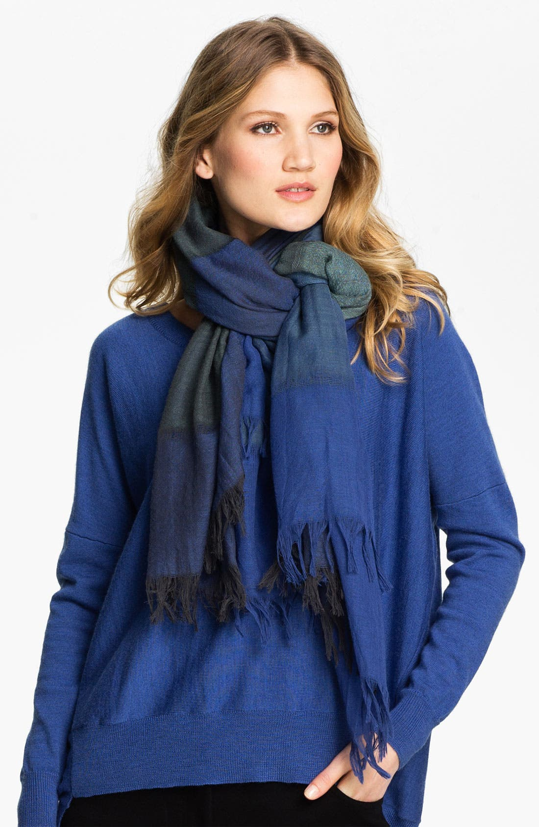 Main Image - Eileen Fisher Fringed Wool Scarf