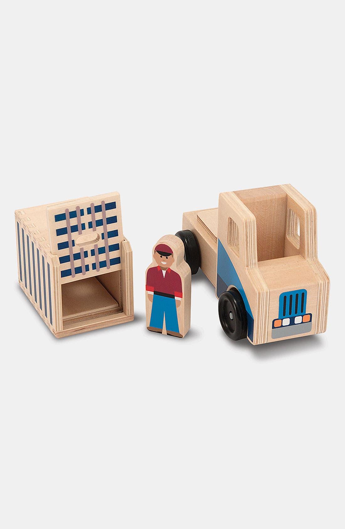 Alternate Image 2  - Melissa & Doug 'Whittle World' Cargo Ship & Truck Wooden Toy