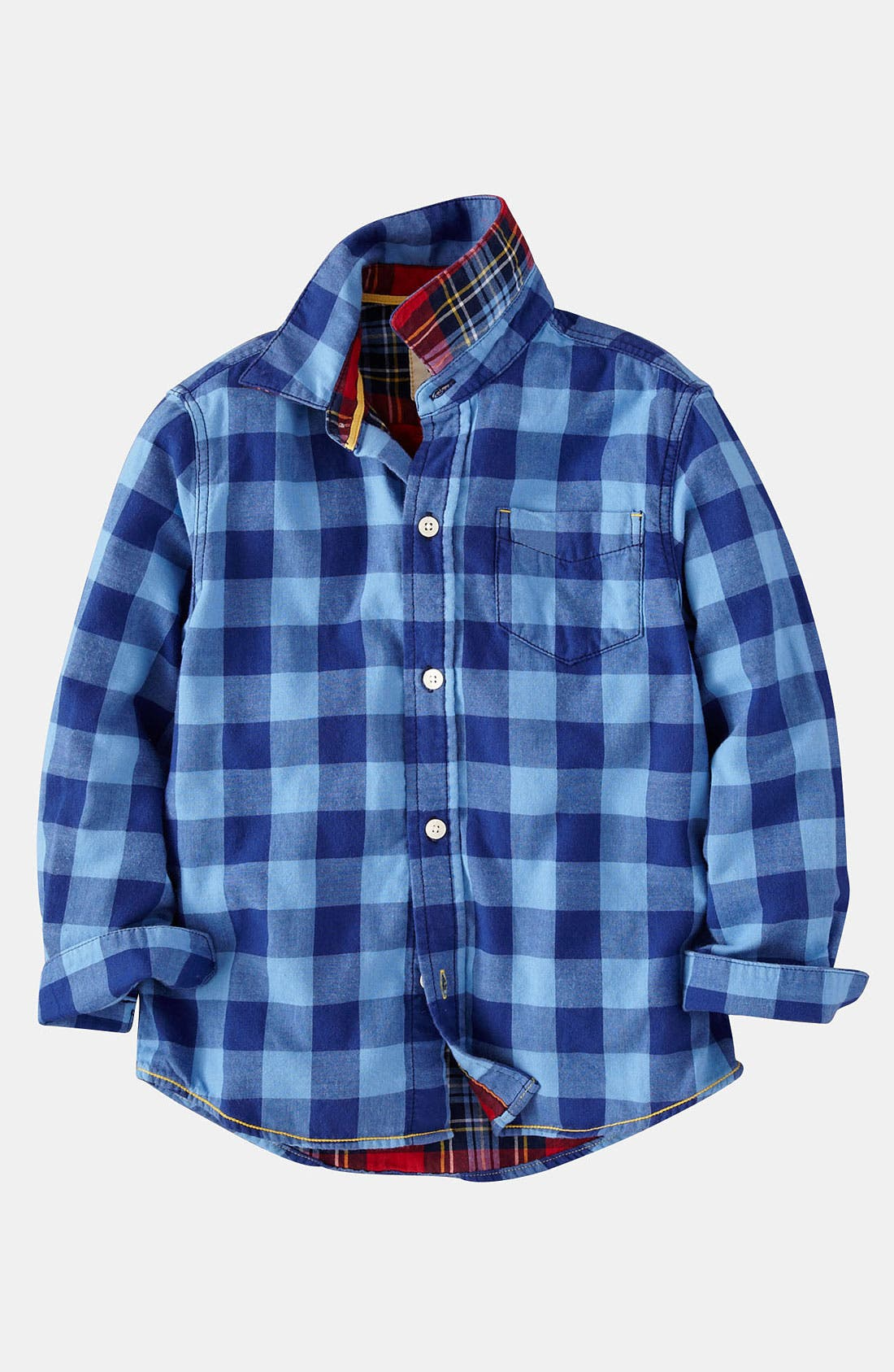 Main Image - Mini Boden Double Cloth Shirt (Toddler)