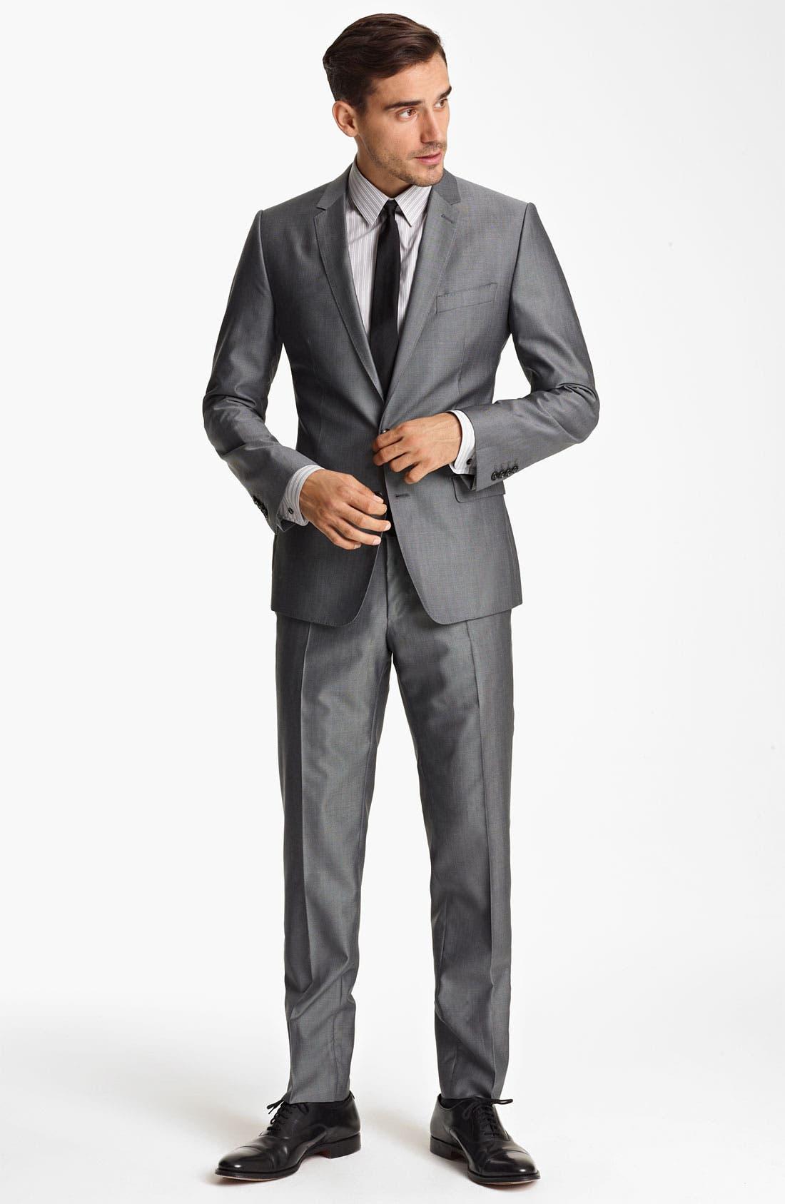 Alternate Image 2  - Dolce&Gabbana Wool & Silk Suit