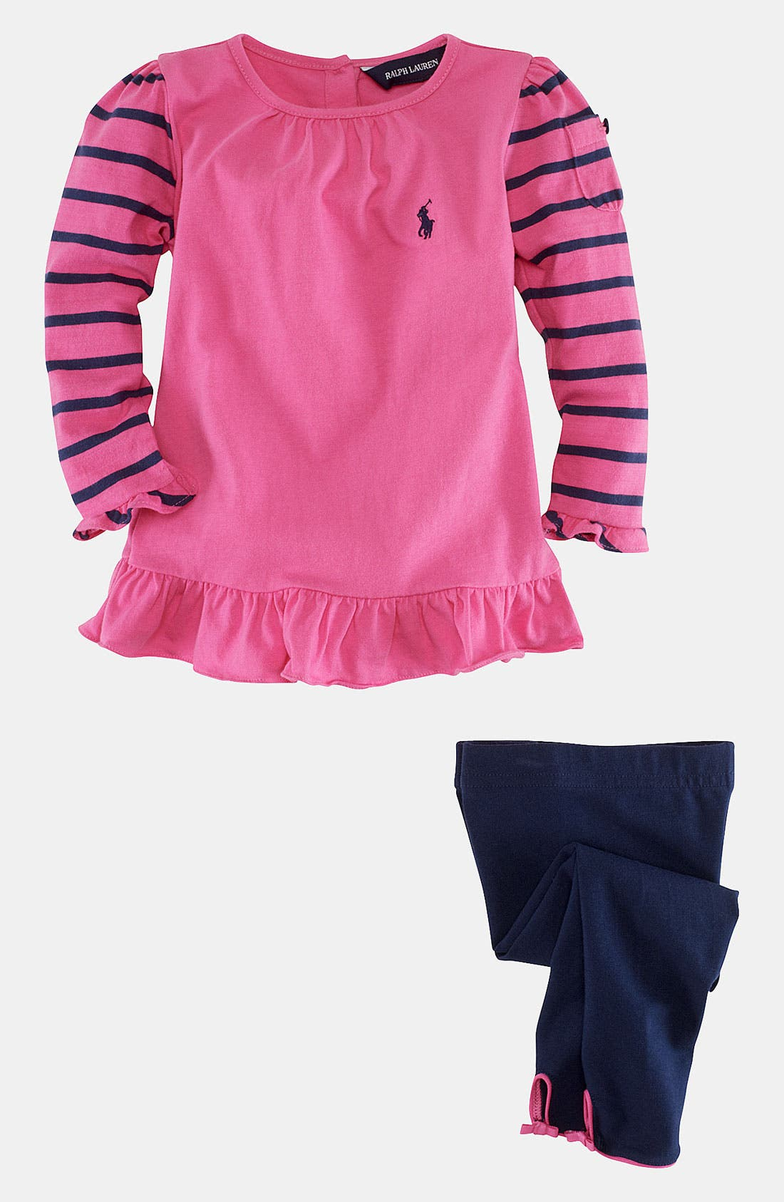 Alternate Image 2  - Ralph Lauren Shirt & Leggings (Infant)