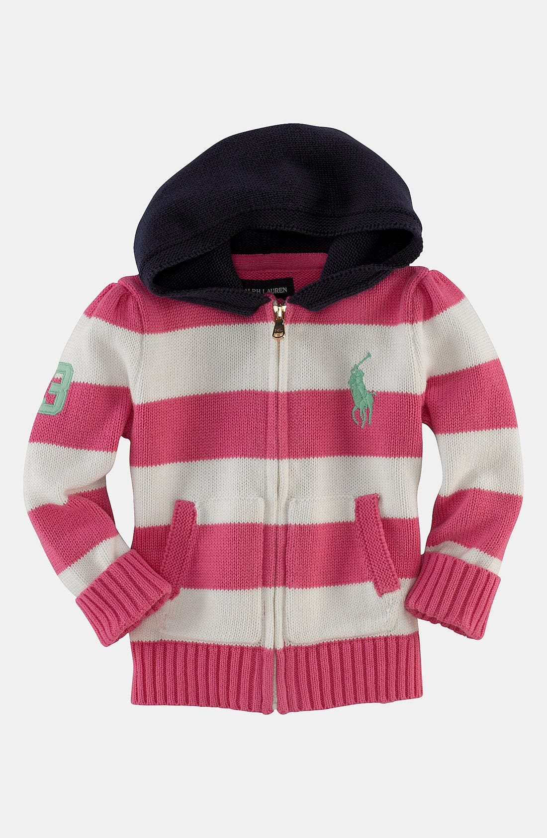 Alternate Image 1 Selected - Ralph Lauren Knit Hoodie (Infant)