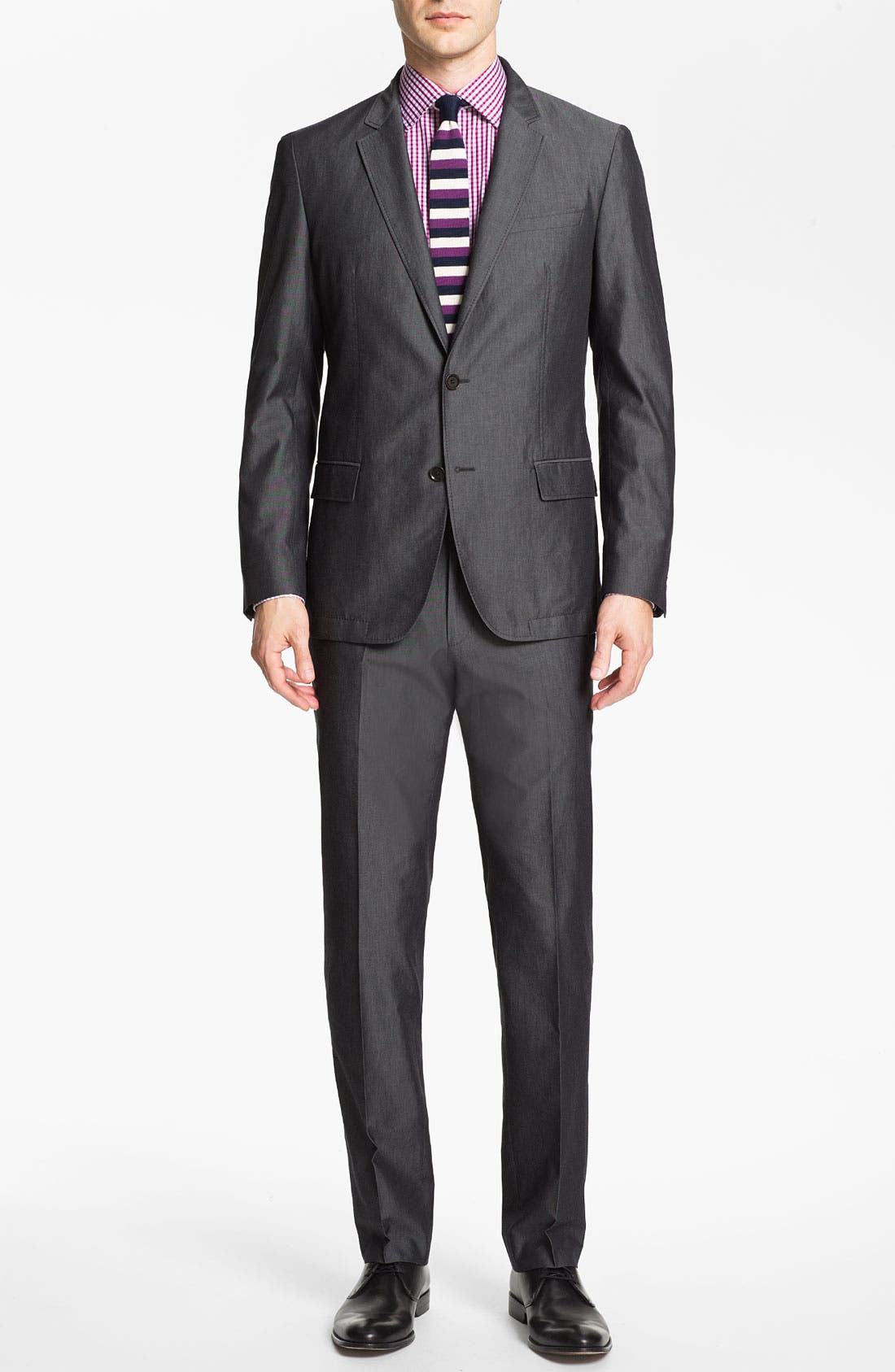 Alternate Image 2  - BOSS HUGO BOSS 'Heaven/Fly' Trim Fit Cotton Blend Suit