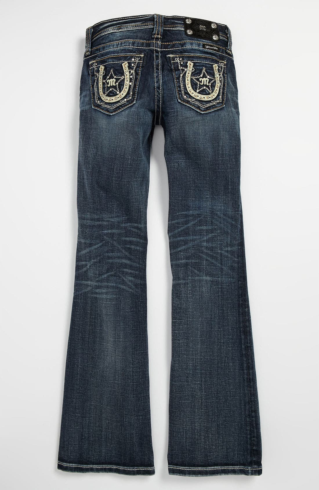 Alternate Image 1 Selected - Miss Me 'Horseshoe' Bootcut Jeans (Big Girls)