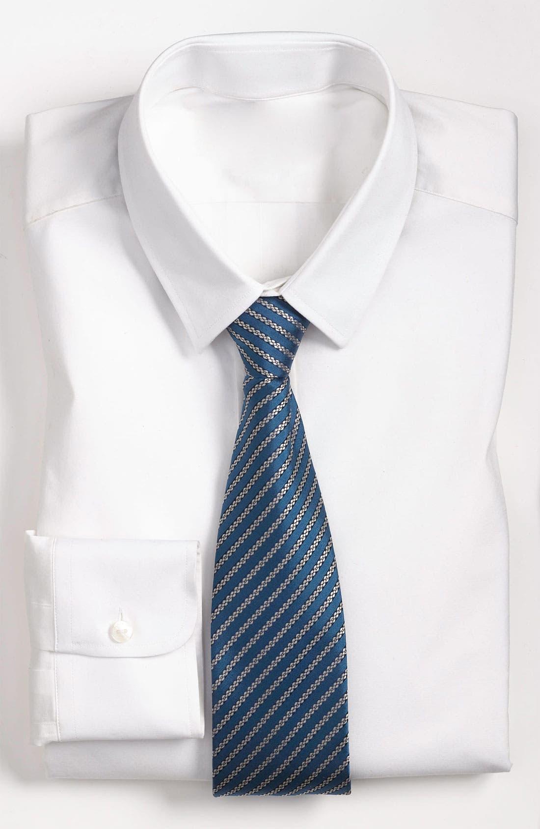 Main Image - Yves Saint Laurent Stripe Pattern Woven Silk Tie