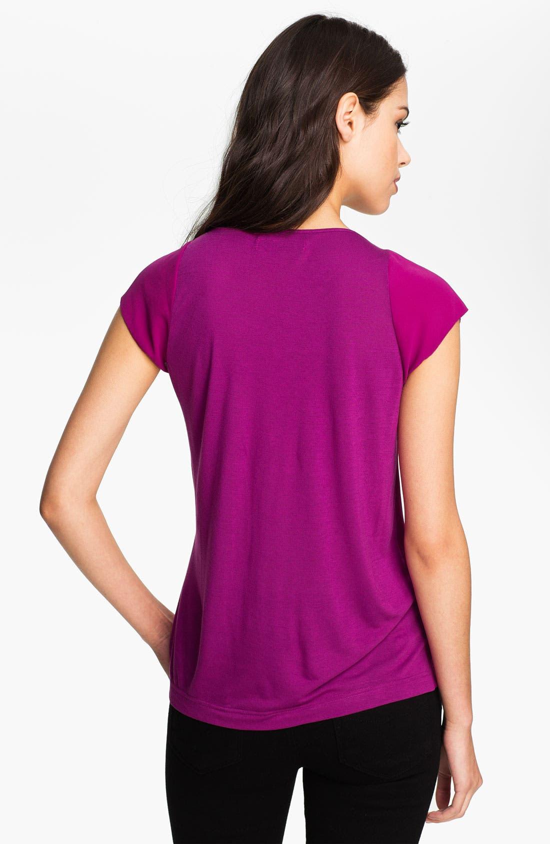 Alternate Image 2  - Heed Layered Lace & Chiffon Draped Top