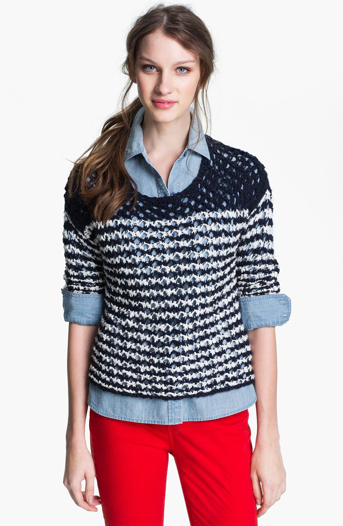 Alternate Image 1 Selected - Lucky Brand 'Esther' Stripe Sweater