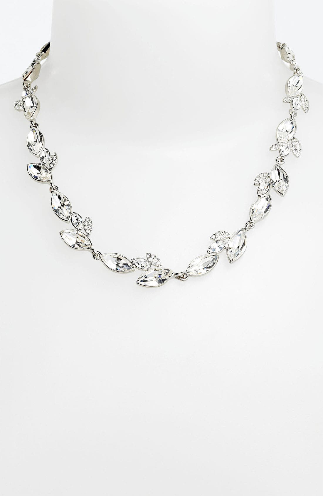 Main Image - Nina 'Marjoram' Pavé Leaf Necklace