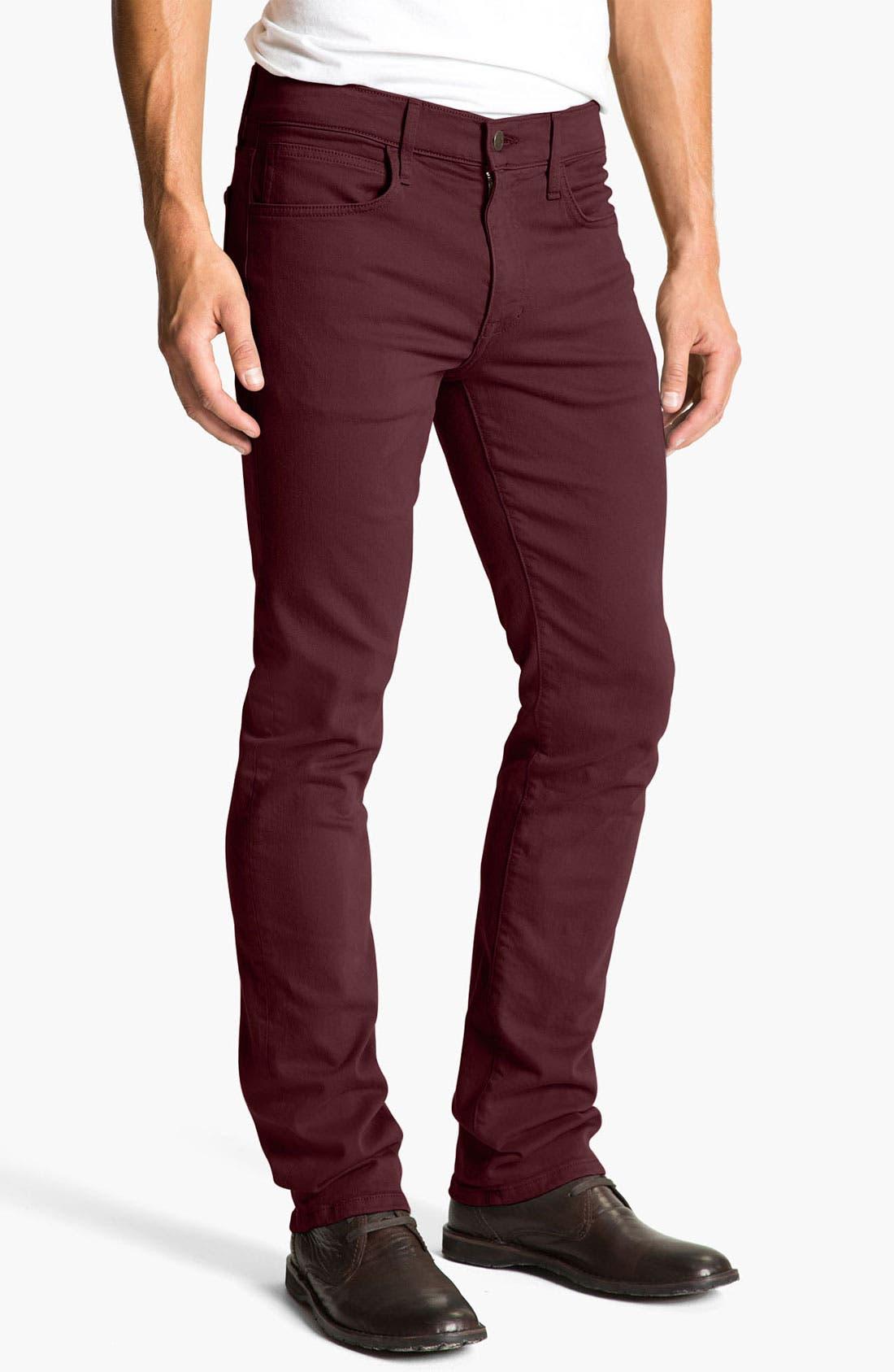 Alternate Image 2  - Joe's 'Brixton' Slim Straight Leg Jeans (Bordeaux)