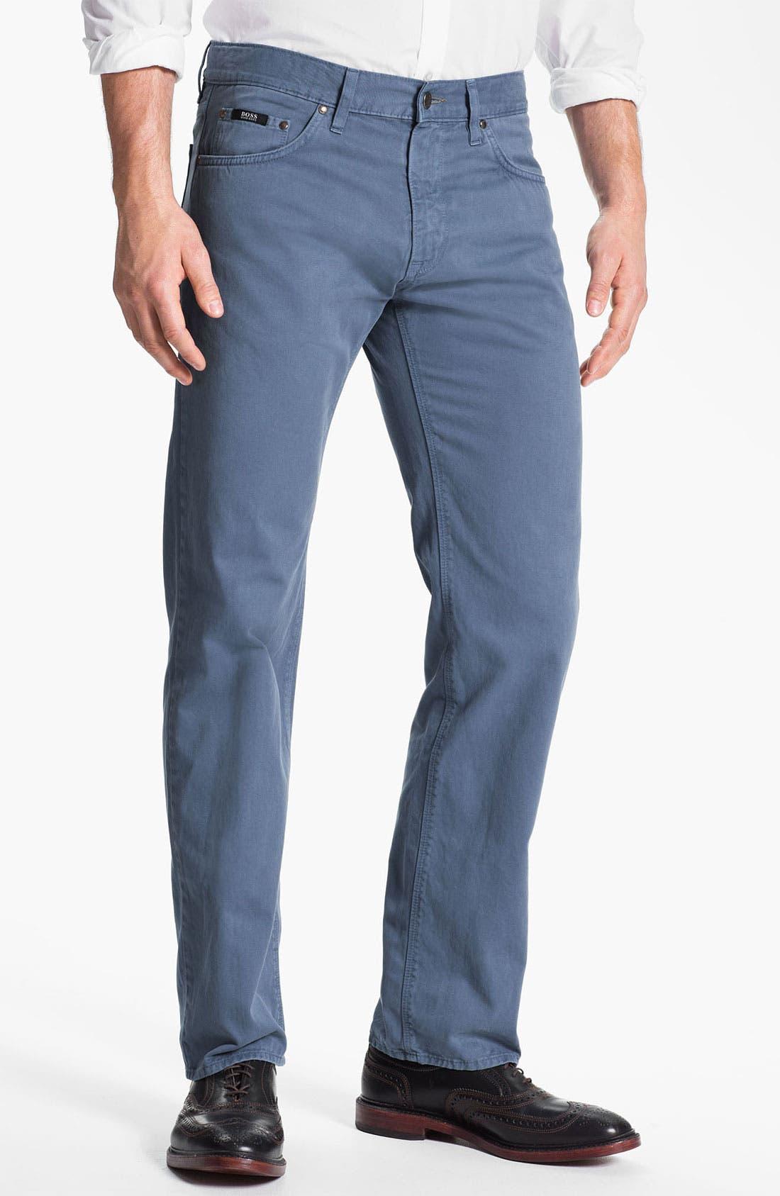 Alternate Image 1 Selected - BOSS HUGO BOSS 'Maine' Five Pocket Pants