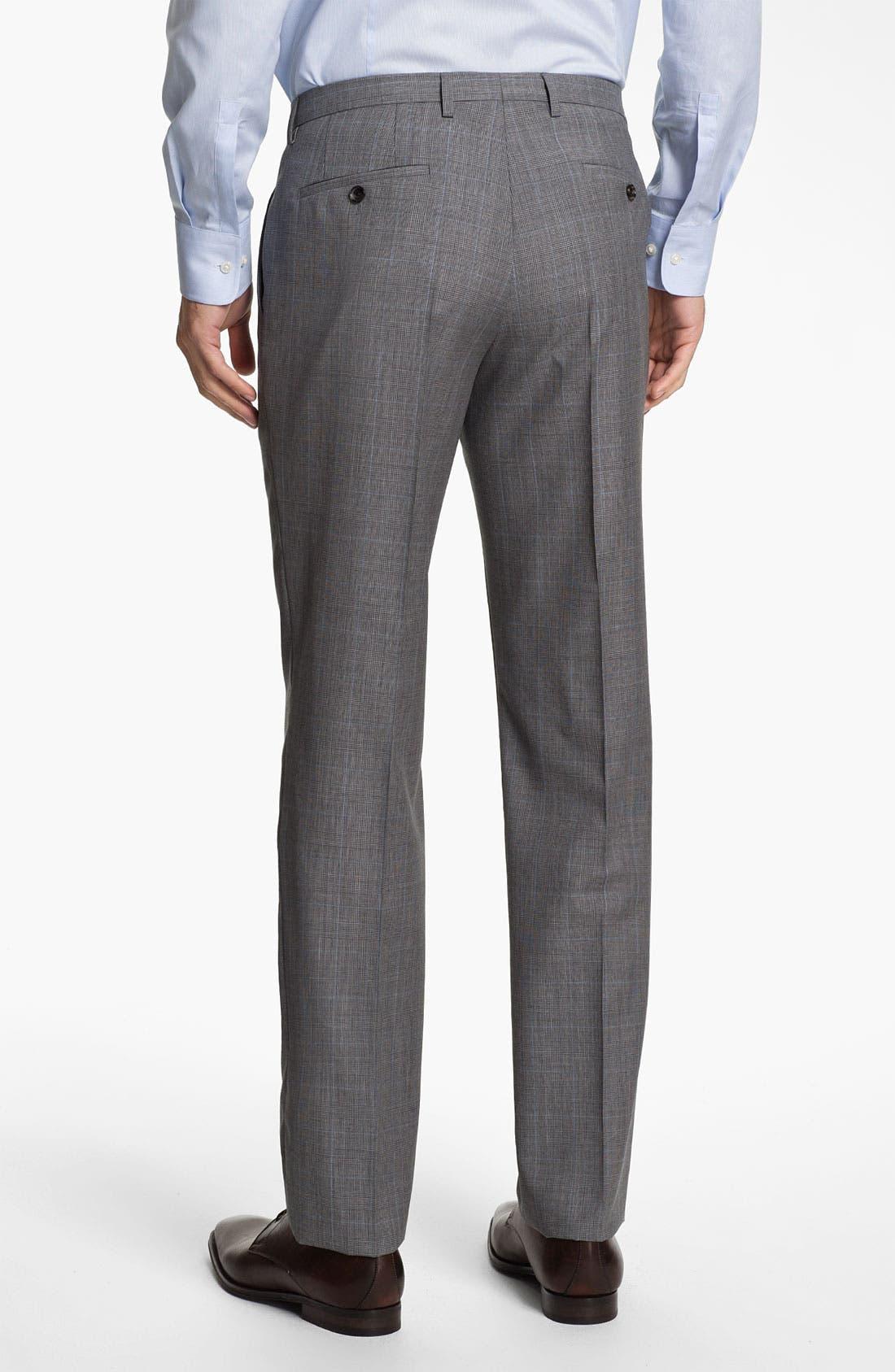 Alternate Image 4  - BOSS Black 'James/Sharp' Trim Fit Plaid Suit