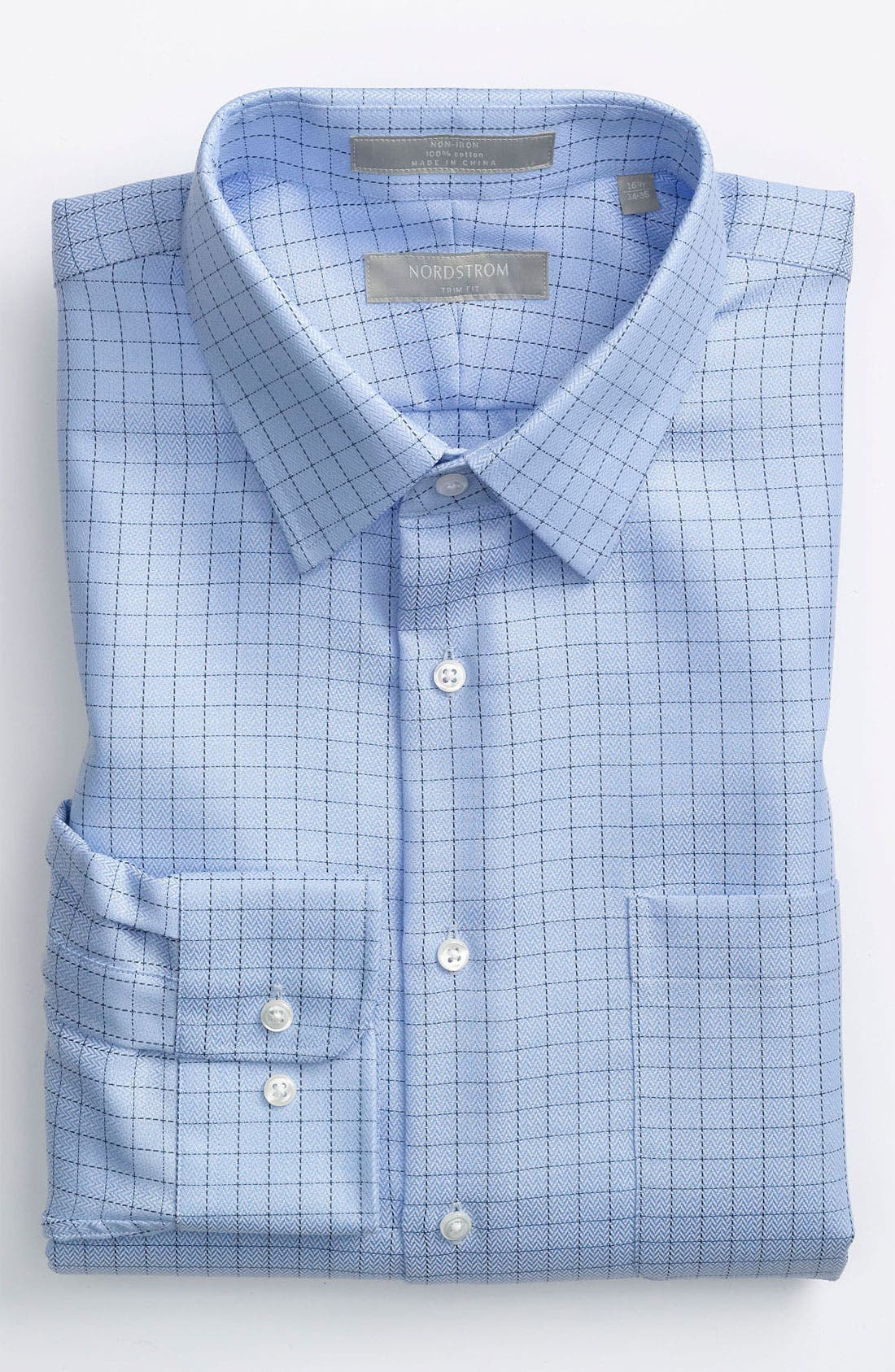 Main Image - Nordstrom Trim Fit Non-Iron Dress Shirt