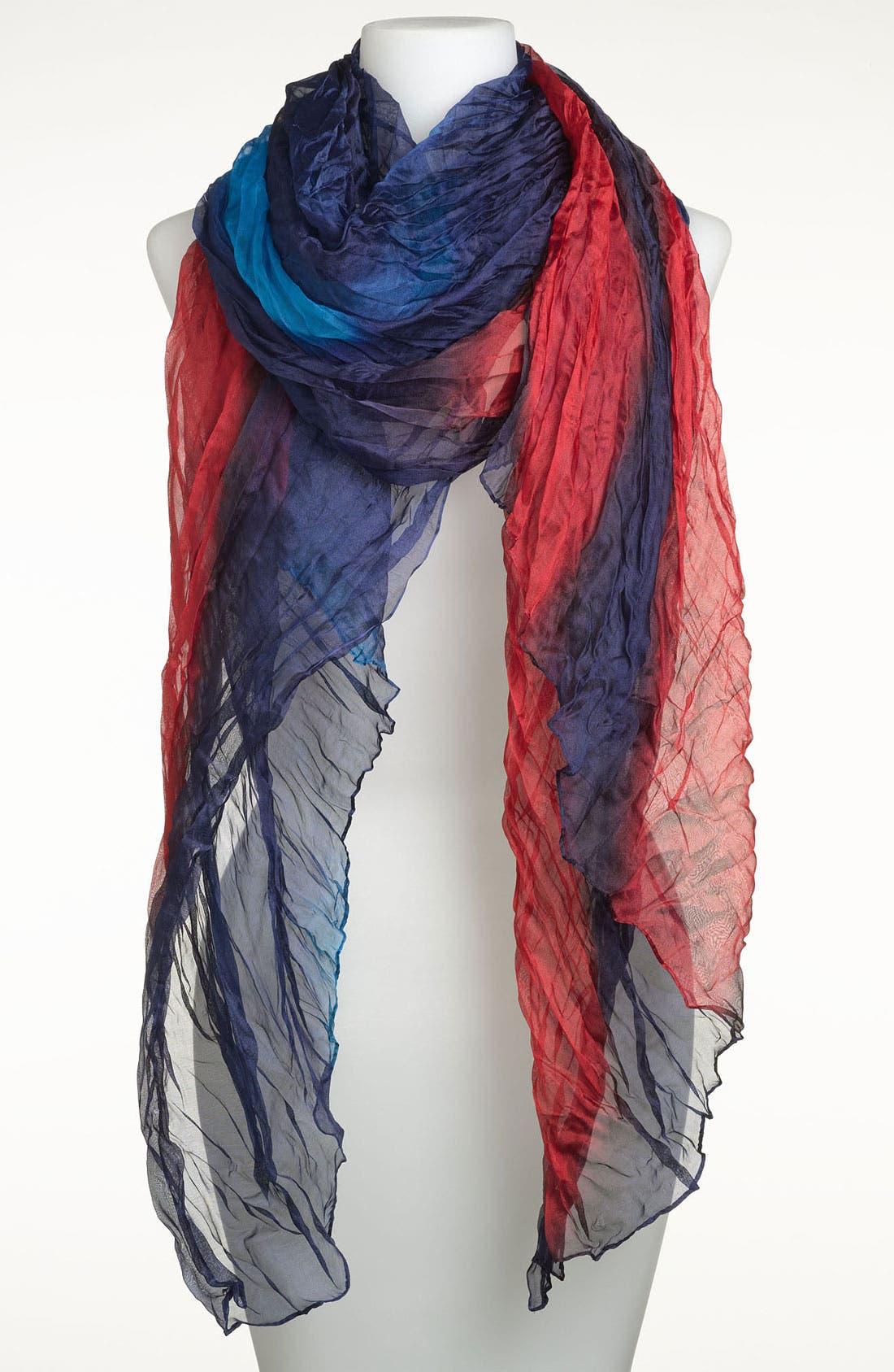 Main Image - Tasha Ombré Crinkle Silk Scarf