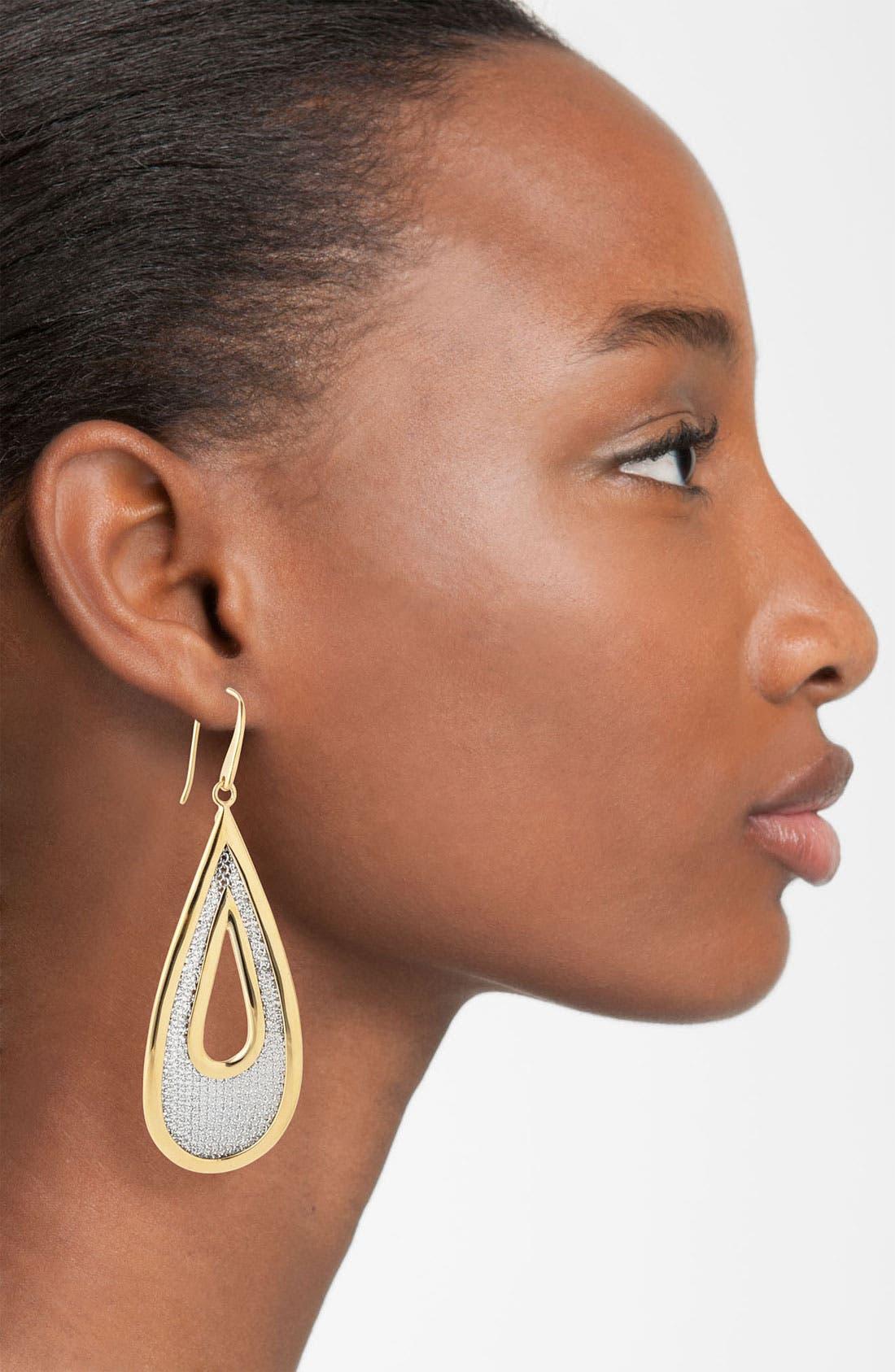Alternate Image 2  - Adami & Martucci 'Mesh' Large Open Teardrop Earrings (Nordstrom Exclusive)