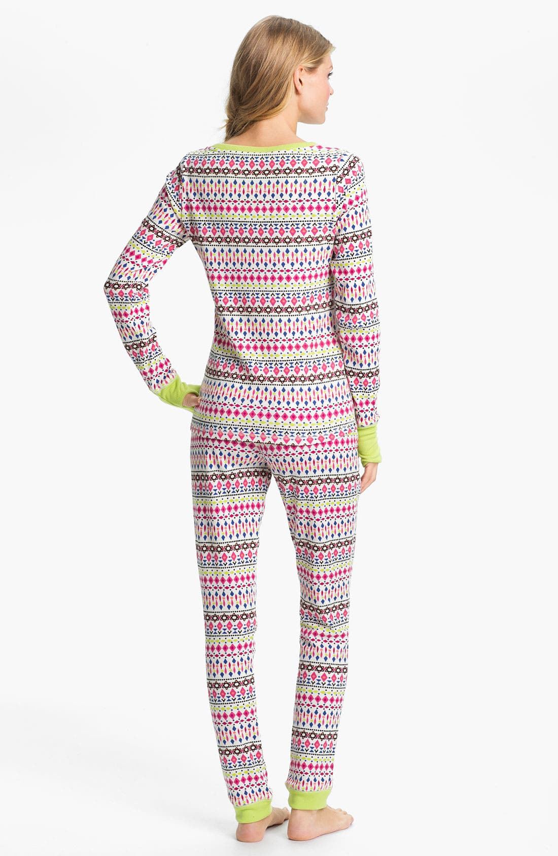 Alternate Image 2  - Steve Madden 'Cozy Up' Print Thermal Pajamas