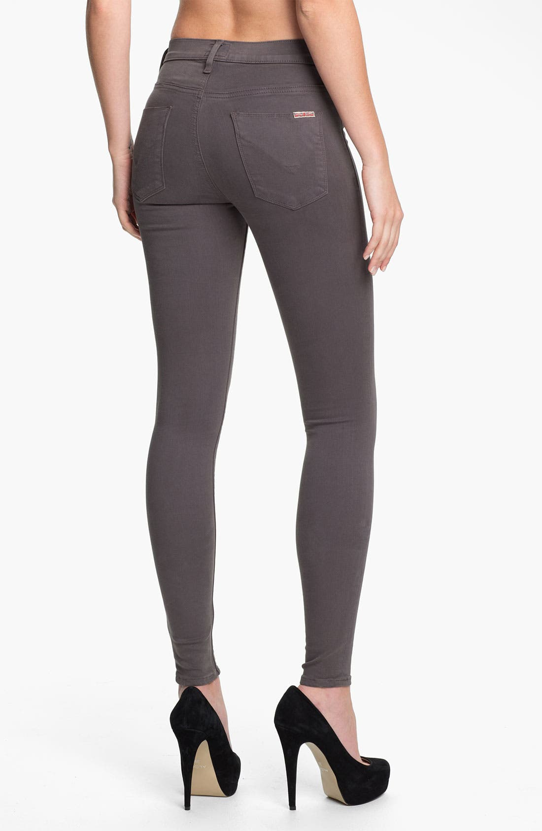 Alternate Image 2  - Hudson Jeans 'Nico' Skinny Stretch Jeans (Dark Grey)