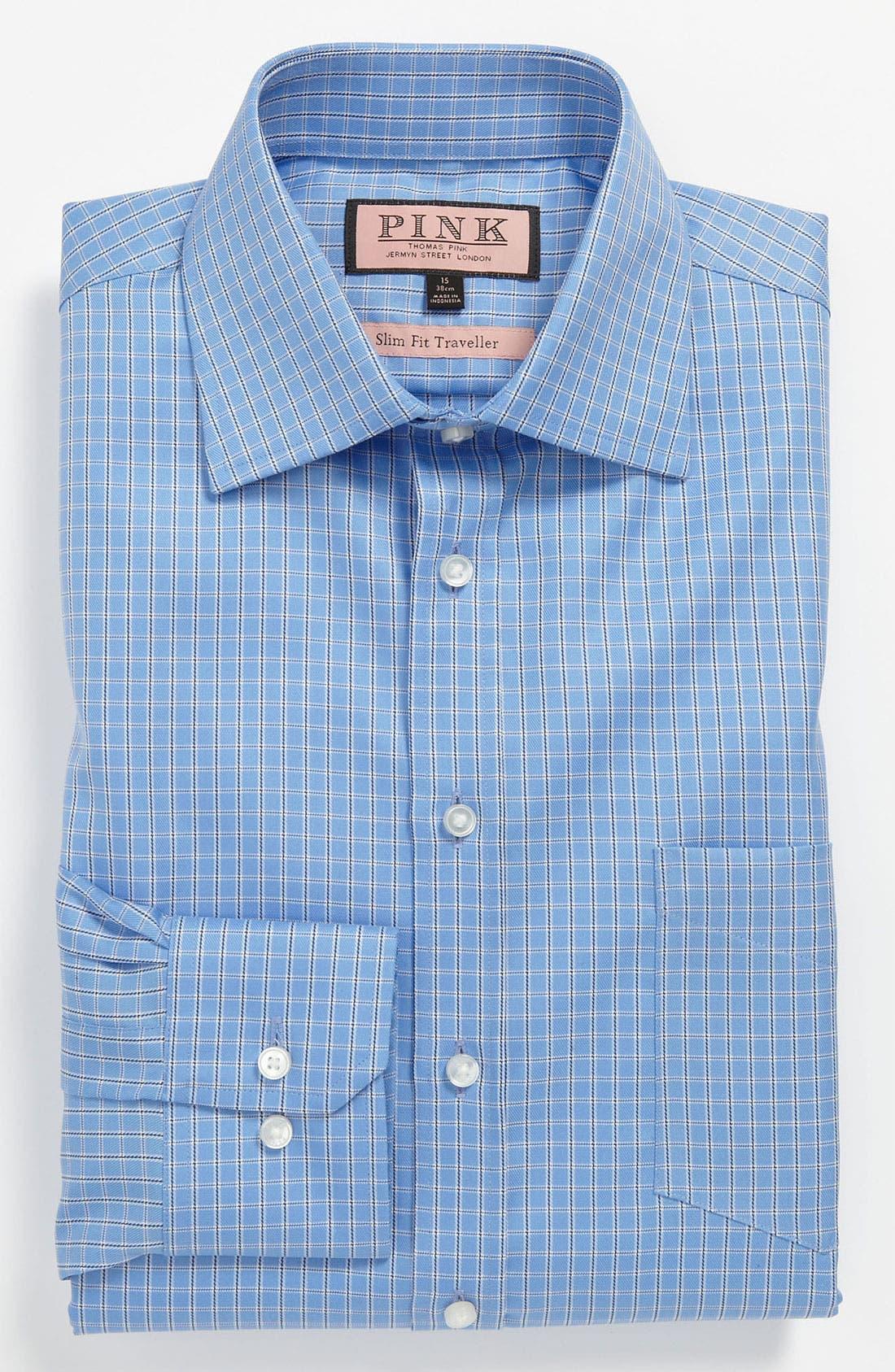Alternate Image 1 Selected - Thomas Pink Slim Fit Traveller Dress Shirt