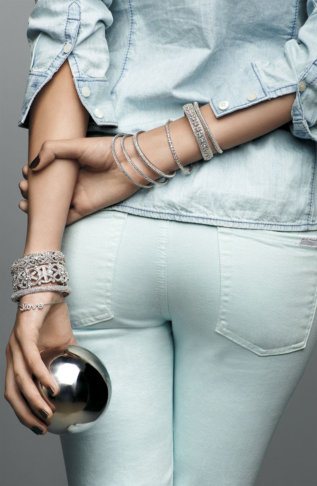 Alternate Image 2  - Nadri Crystal Scallop Bangle