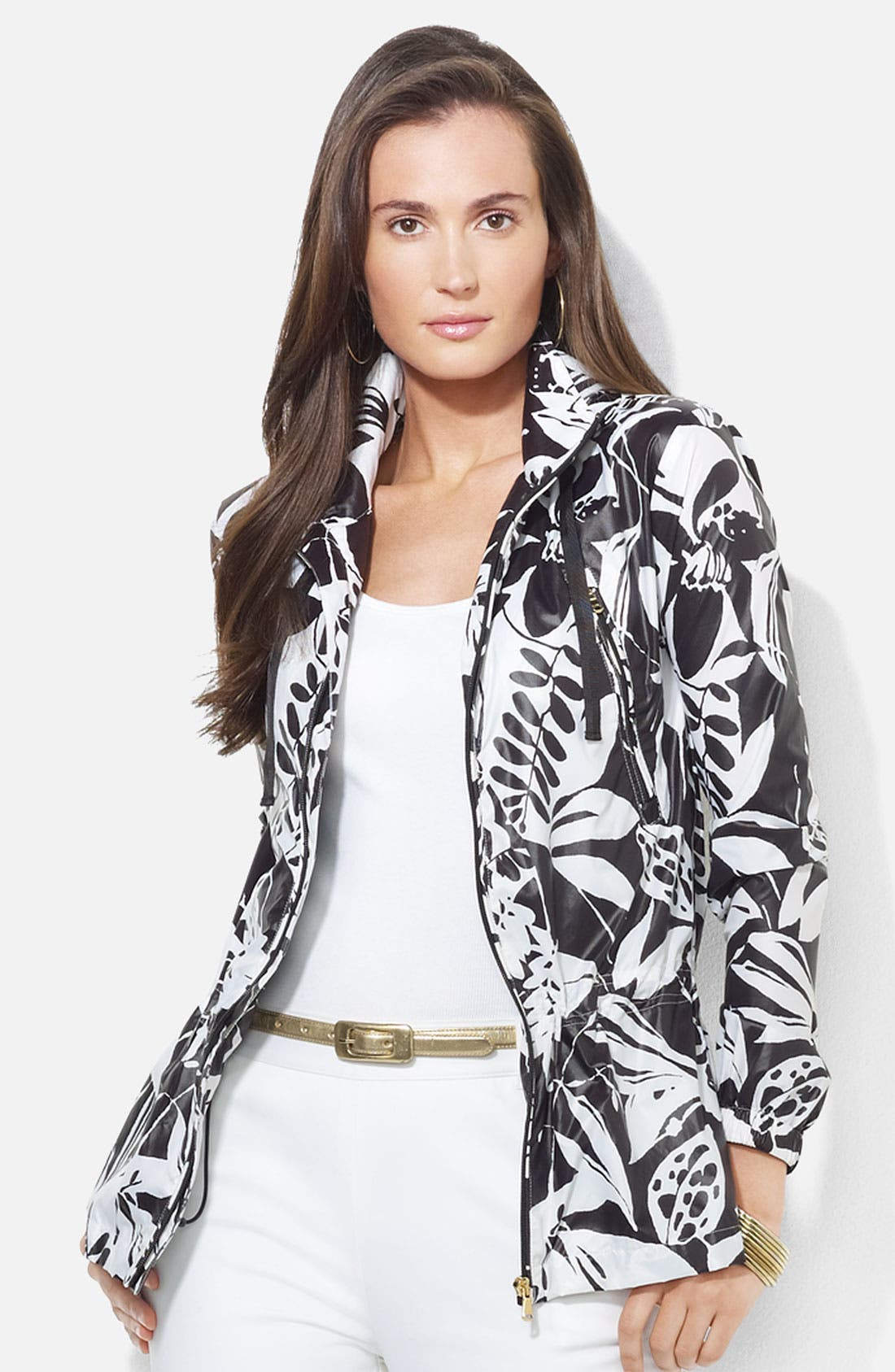 Alternate Image 1 Selected - Lauren Ralph Lauren Drawcord Waist Jacket